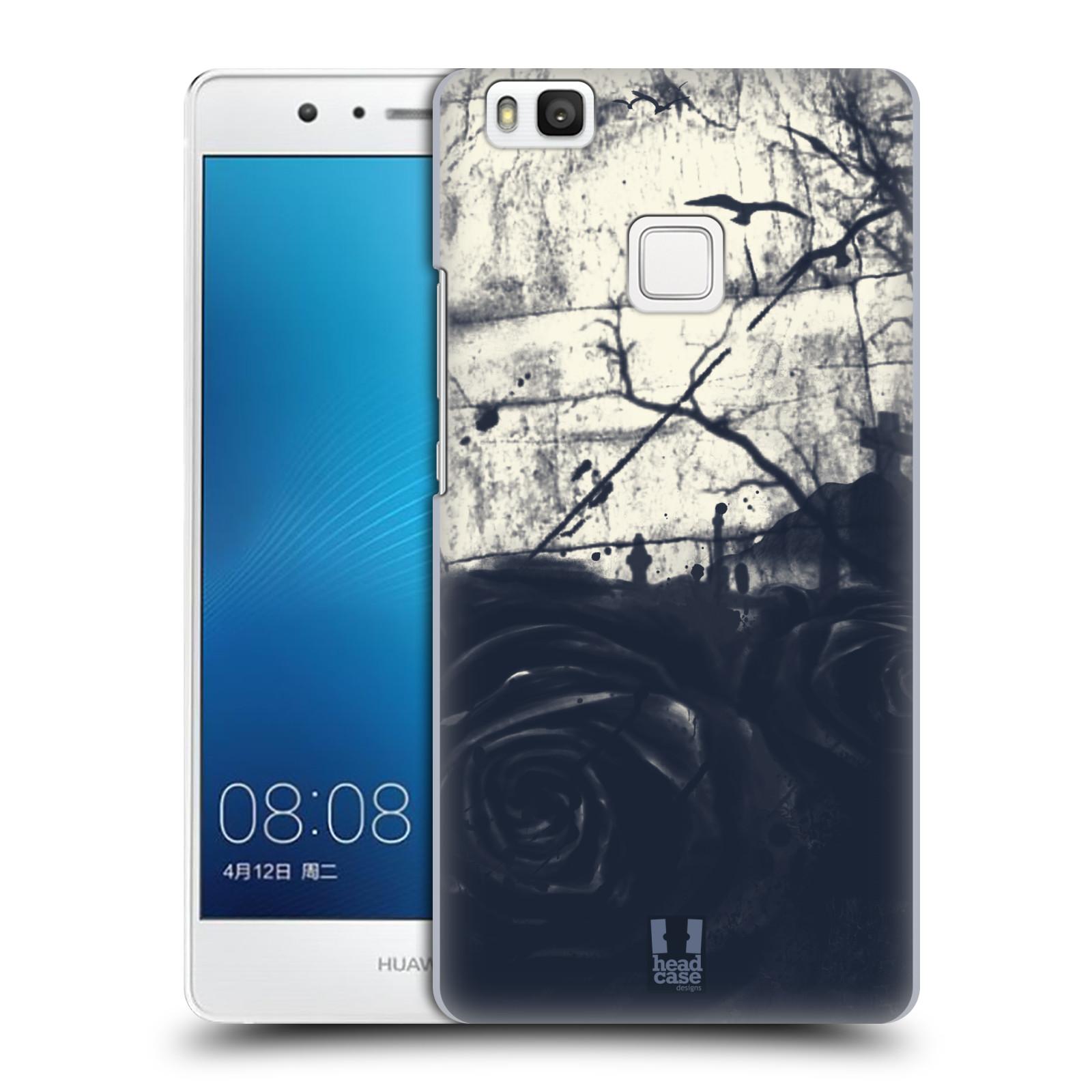 HEAD CASE plastový obal na mobil Huawei P9 LITE   P9 LITE DUAL SIM vzor  Kreslené barevné květiny TEMNÁ RŮŽE 029ccf897fc