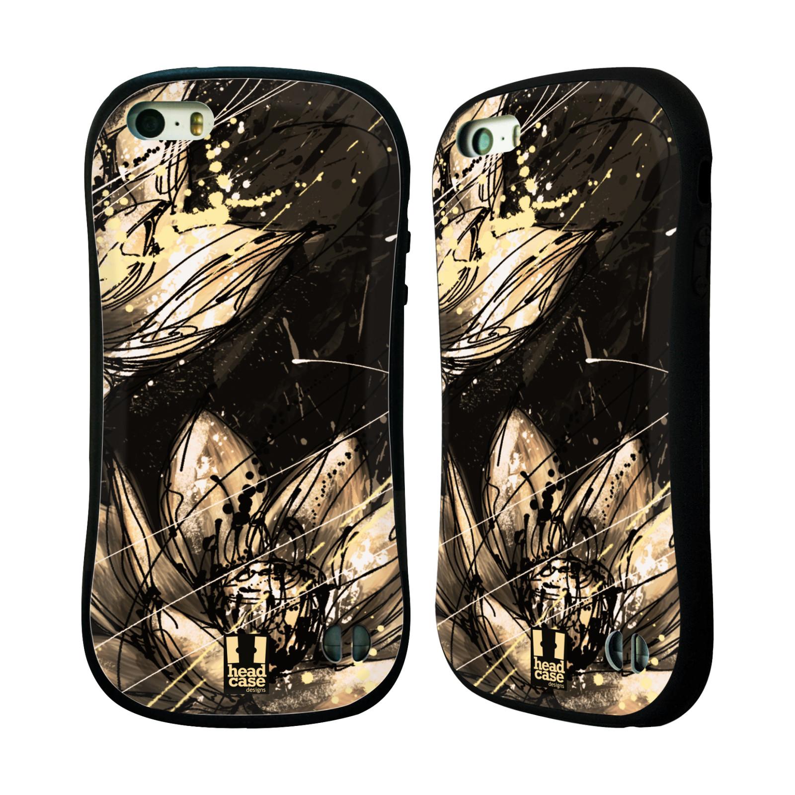 HEAD CASE silikon/plast odolný obal na mobil Apple Iphone 5/5S vzor Kreslené barevné květiny LOTOSOVÝ KVĚT