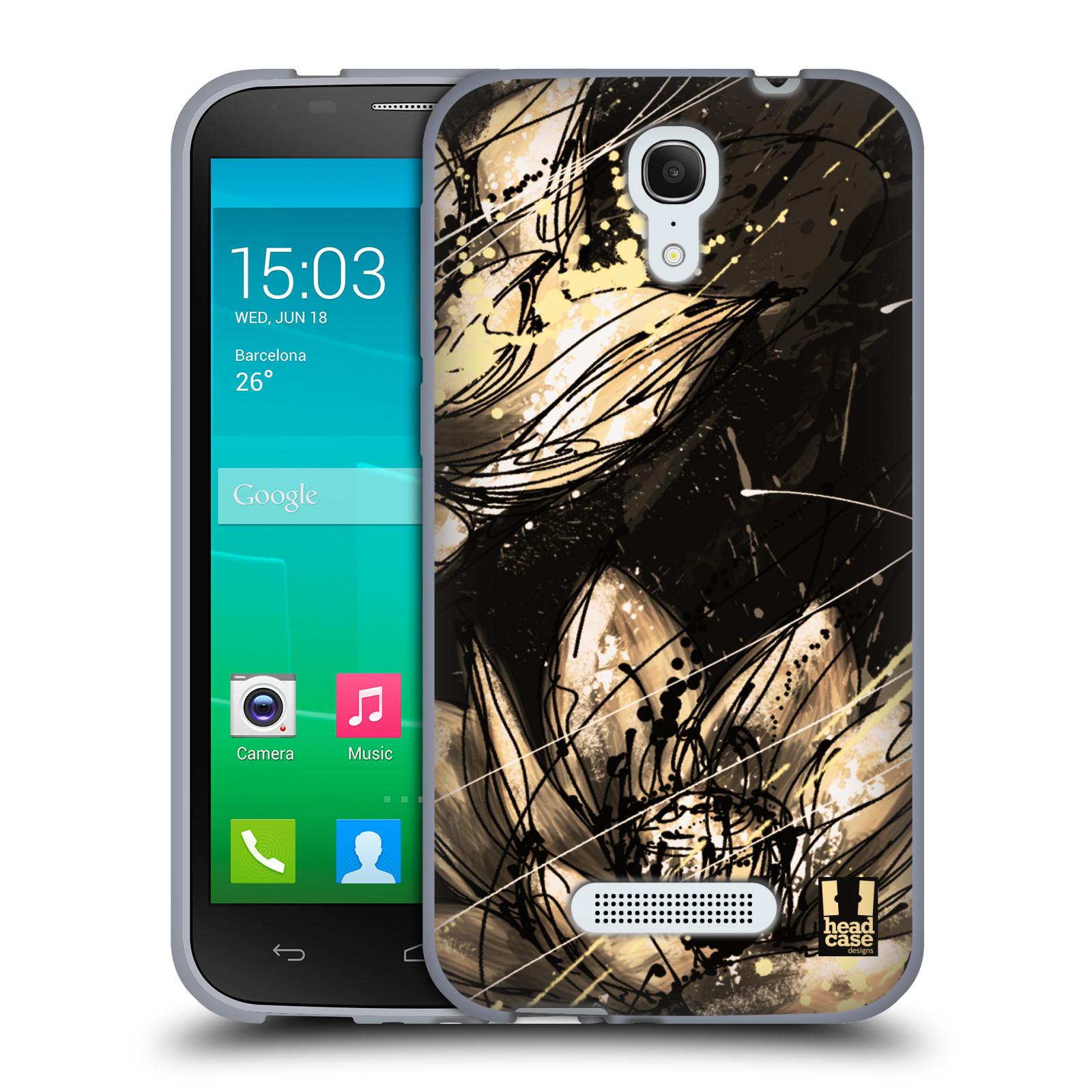 HEAD CASE silikonový obal na mobil Alcatel POP S7 vzor Kreslené barevné květiny LOTOSOVÝ KVĚT