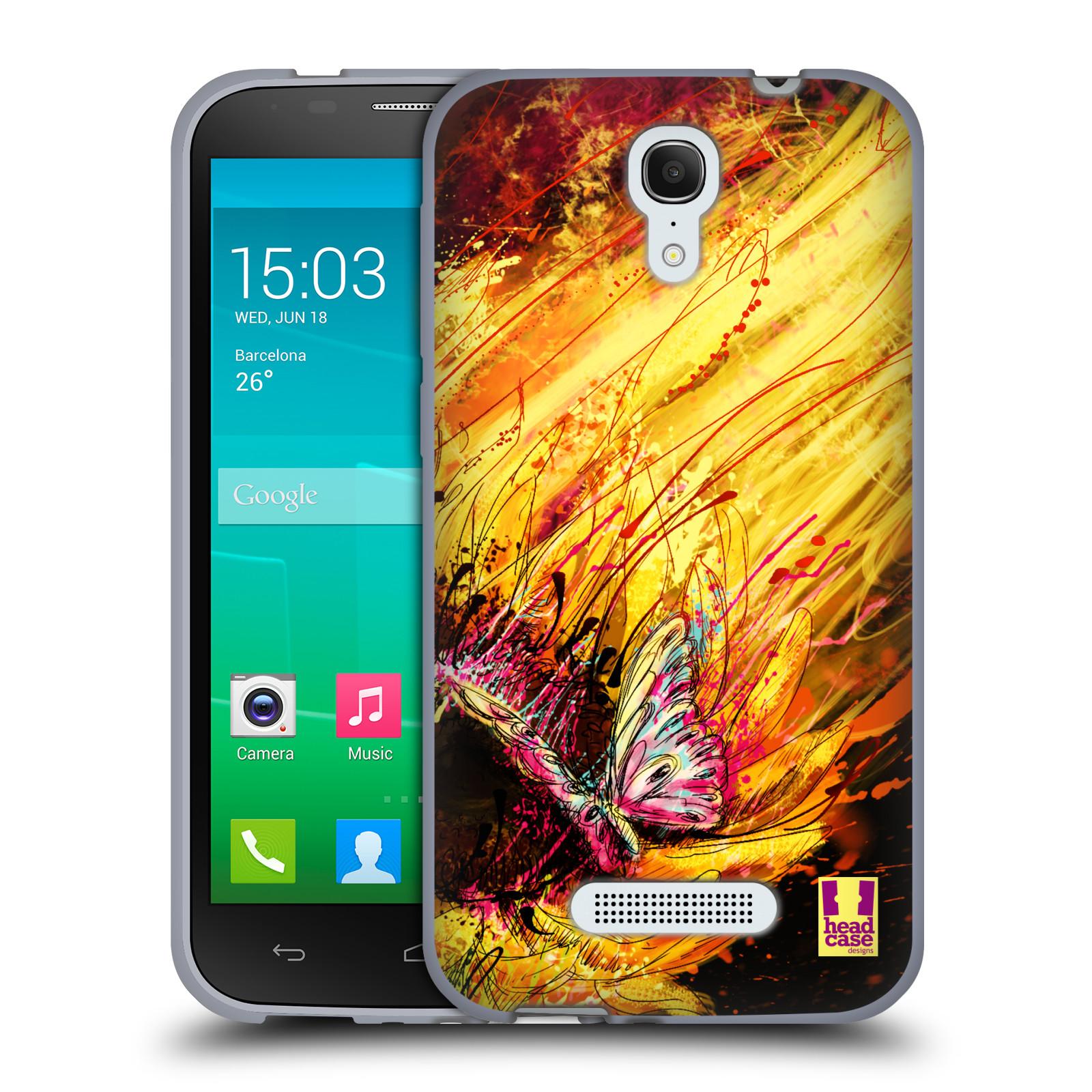 HEAD CASE silikonový obal na mobil Alcatel POP S7 vzor Kreslené barevné květiny SLUNEČNICE