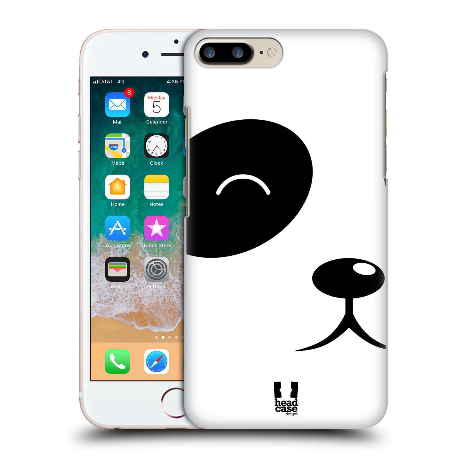 HEAD CASE plastový obal na mobil Apple Iphone 7 PLUS vzor Celá tvář zvíře kreslený portrét medvídek panda