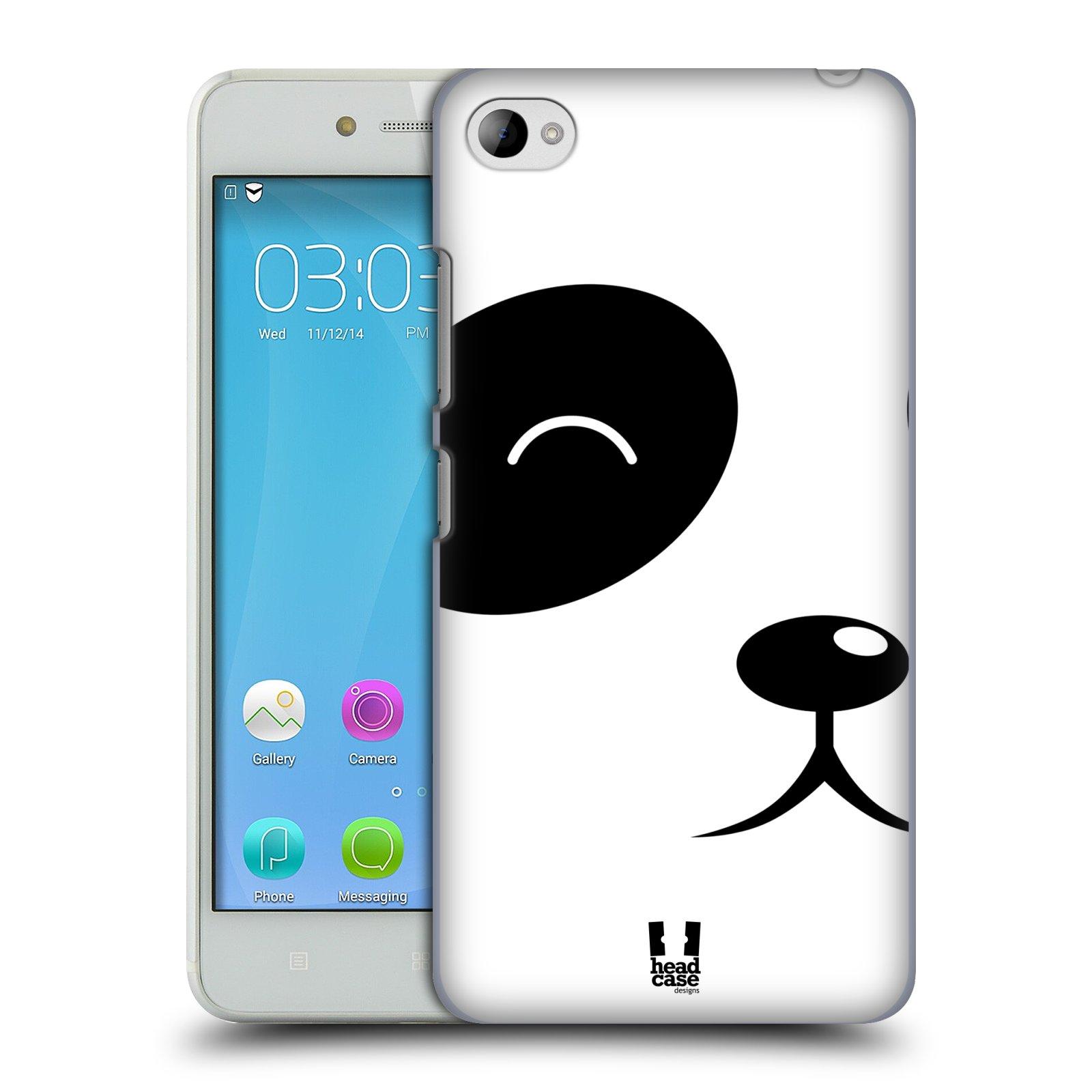 HEAD CASE pevný plastový obal na mobil LENOVO S90 vzor Celá tvář zvíře kreslený portrét medvídek panda