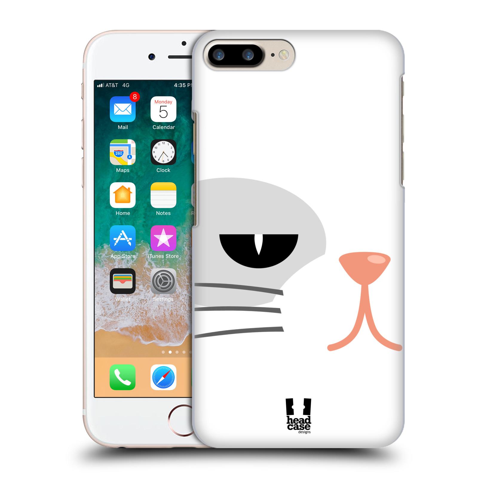HEAD CASE plastový obal na mobil Apple Iphone 7 PLUS vzor Celá tvář zvíře kreslený portrét kočička