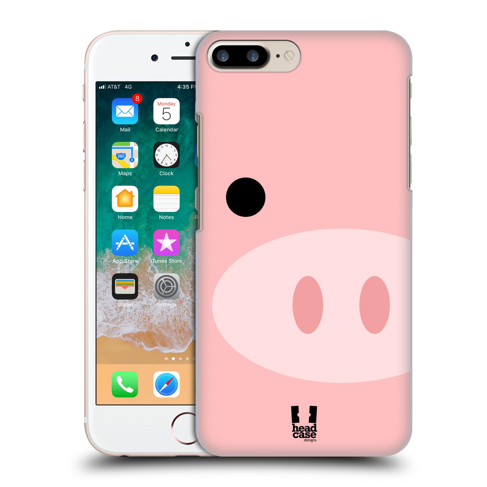 HEAD CASE plastový obal na mobil Apple Iphone 7 PLUS vzor Celá tvář zvíře kreslený portrét prasátko
