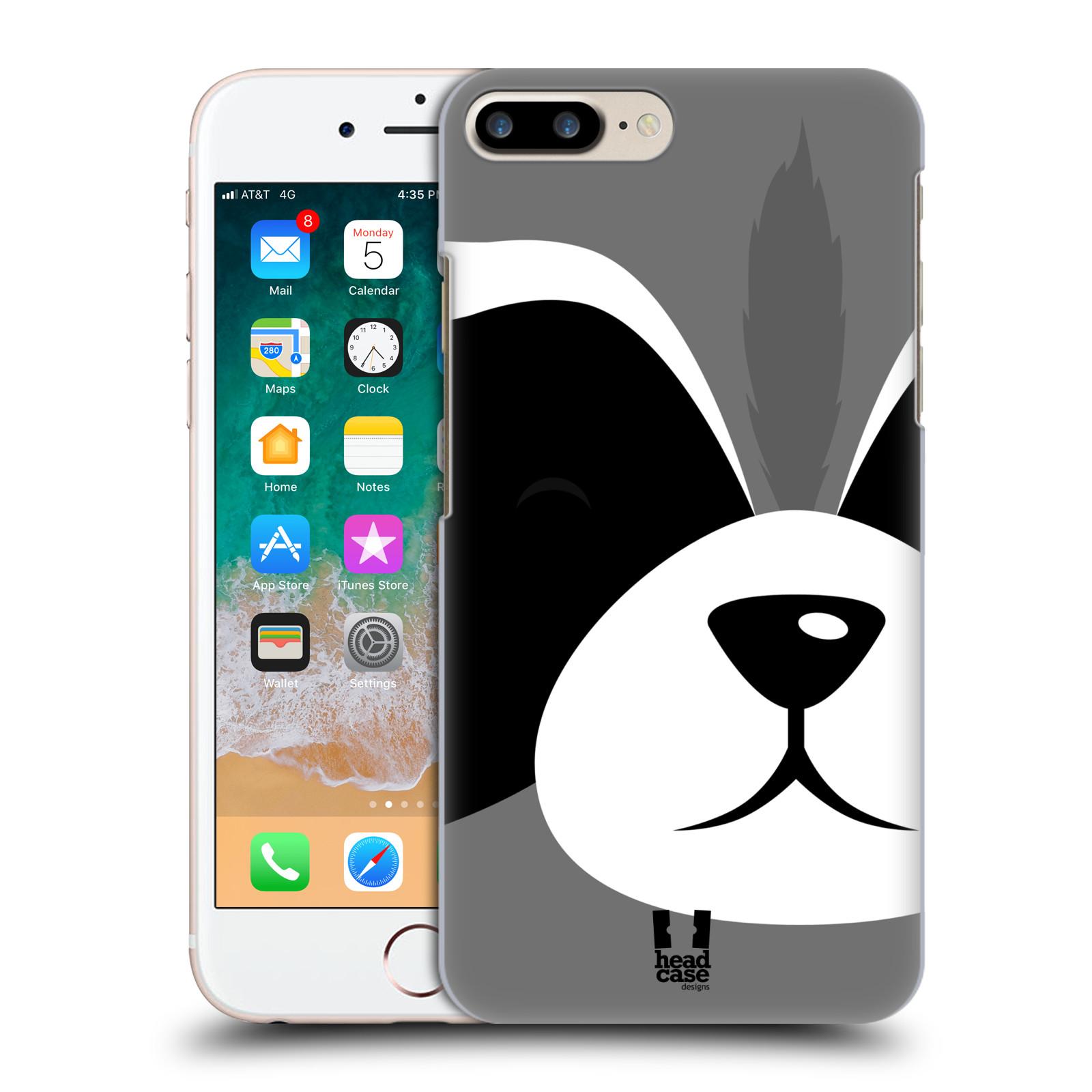 HEAD CASE plastový obal na mobil Apple Iphone 7 PLUS vzor Celá tvář zvíře kreslený portrét mýval