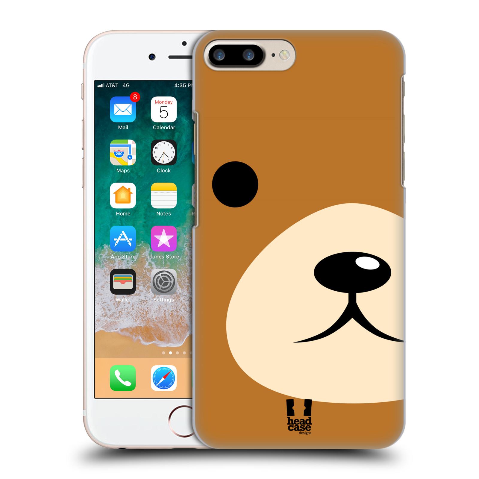 HEAD CASE plastový obal na mobil Apple Iphone 7 PLUS vzor Celá tvář zvíře kreslený portrét medvídek
