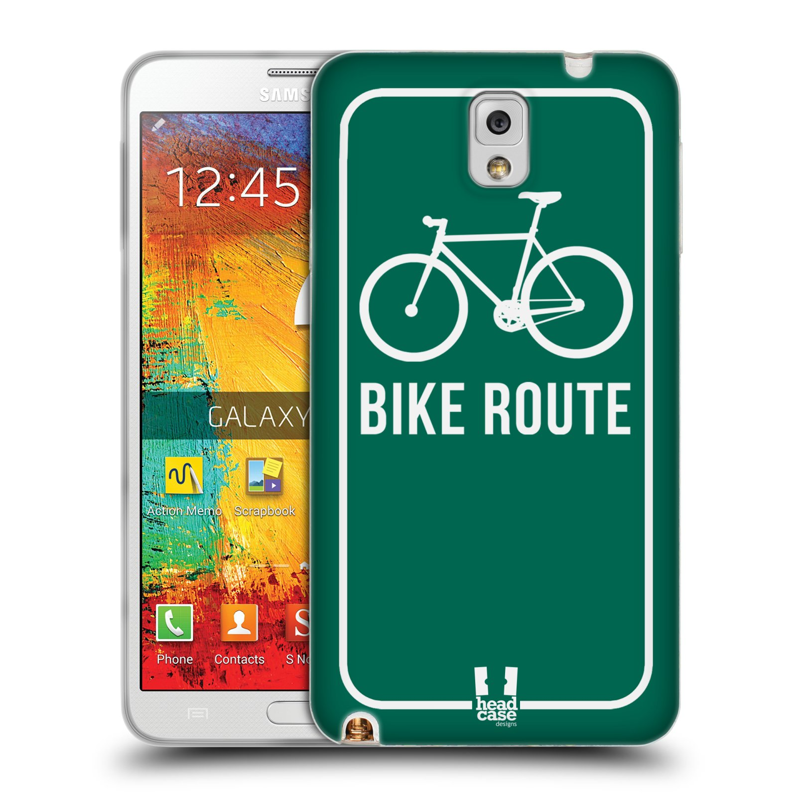 HEAD CASE FIXED GEARS TPU GEL BACK CASE COVER FOR SAMSUNG GALAXY NOTE 3 N9005