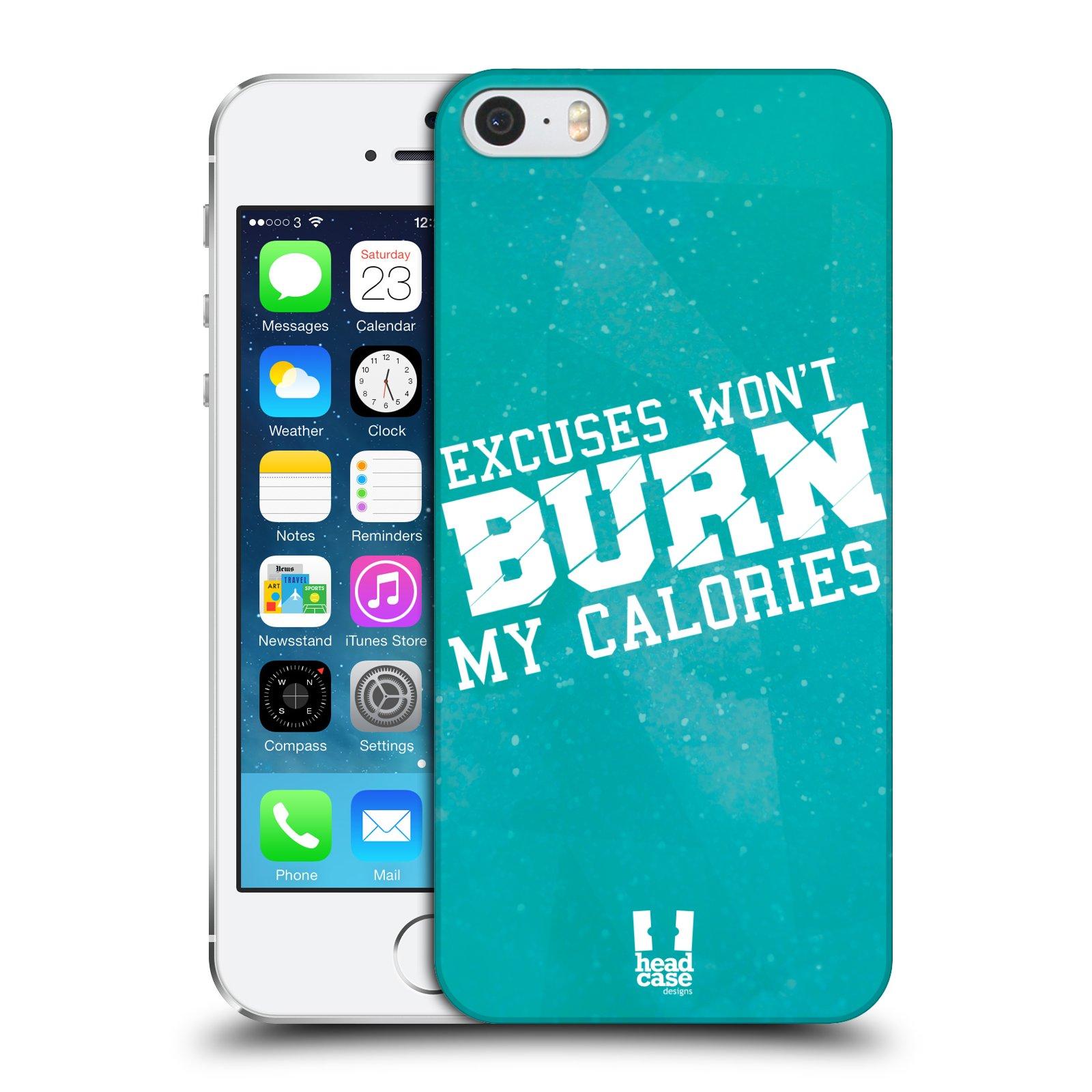 Plastové pouzdro pro mobil Apple Iphone 5 / 5S / SE Sportovní nápisy motivace modrá barva