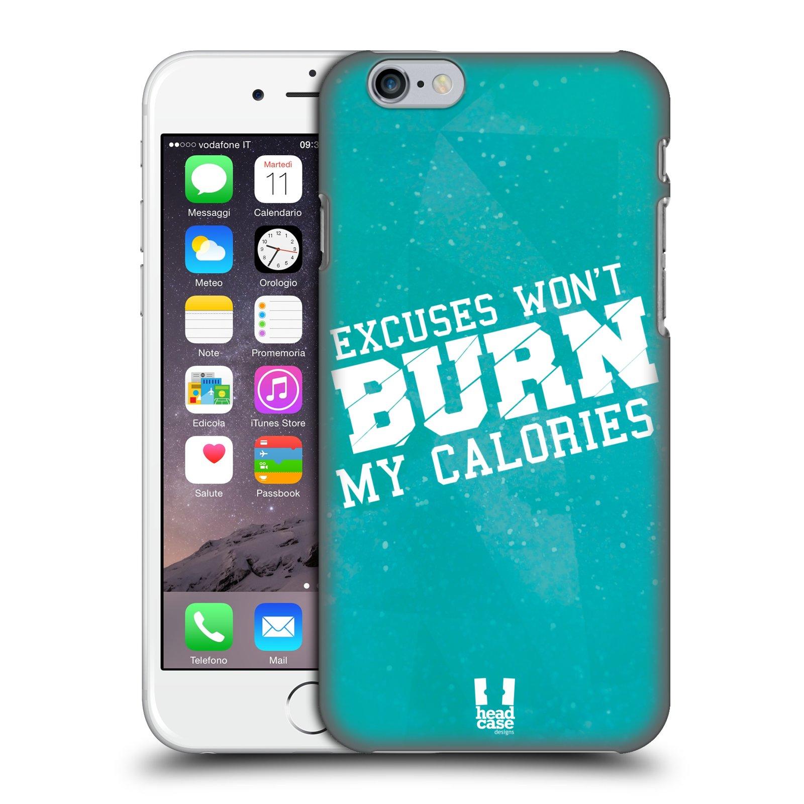 Plastové pouzdro pro mobil Apple Iphone 6/6S Sportovní nápisy motivace modrá barva