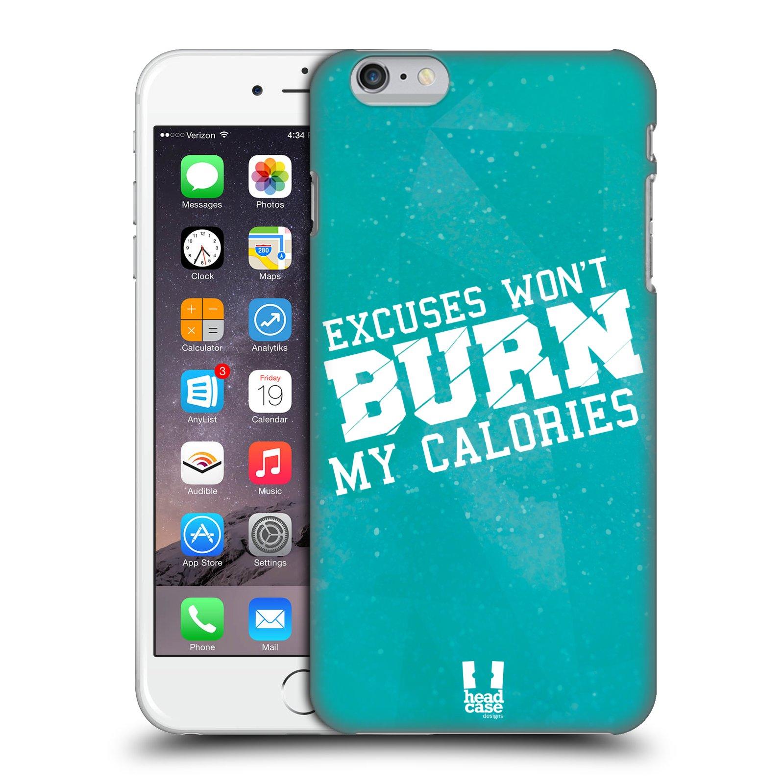 Plastové pouzdro pro mobil Apple Iphone 6 PLUS / 6S PLUS Sportovní nápisy motivace modrá barva