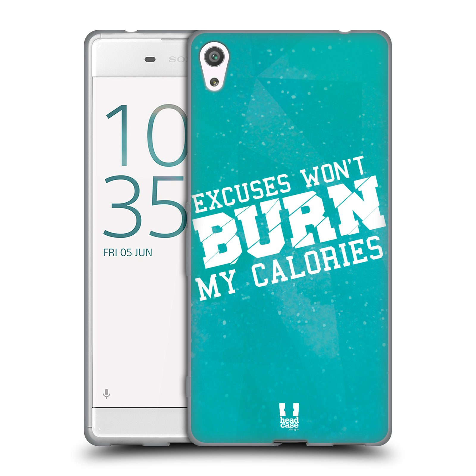 HEAD CASE silikonový obal na mobil Sony Xperia XA ULTRA Sportovní nápisy motivace modrá barva