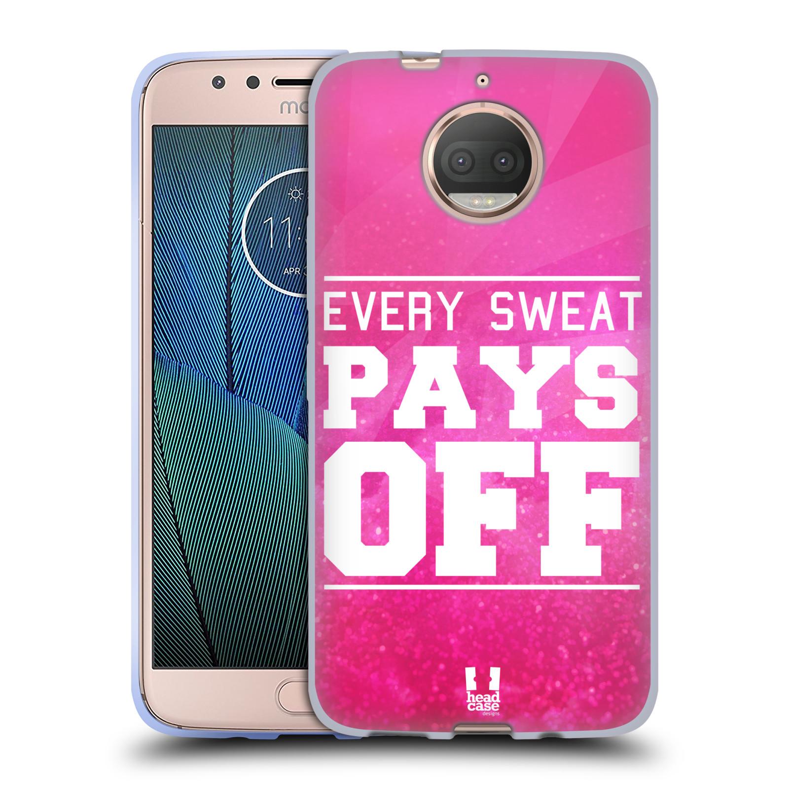 HEAD CASE silikonový obal na mobil Lenovo Moto G5s PLUS Sportovní nápisy růžová barva POT a DŘINA