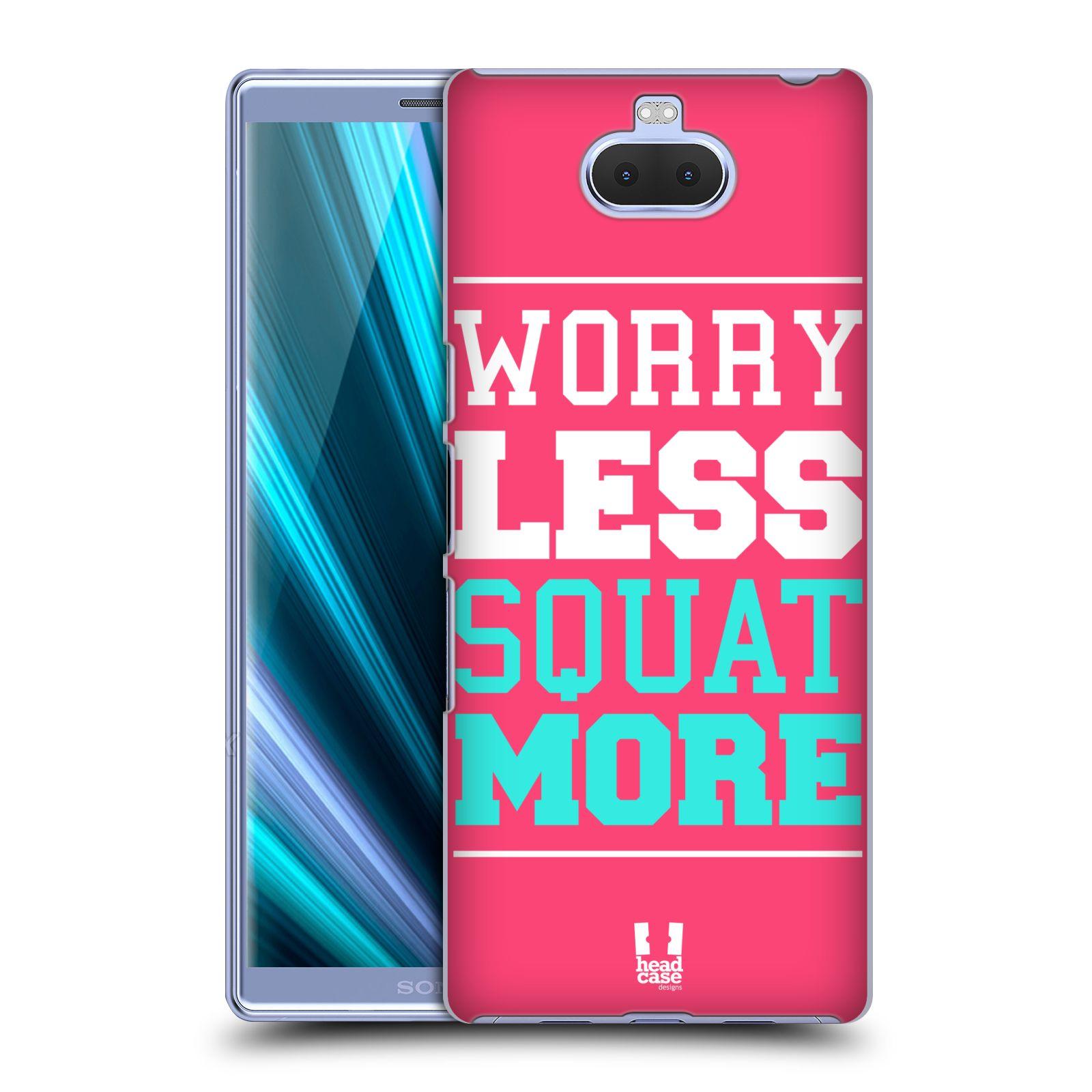 Pouzdro na mobil Sony Xperia 10 - Head Case - Sportovní nápisy růžová barva DŘEPY