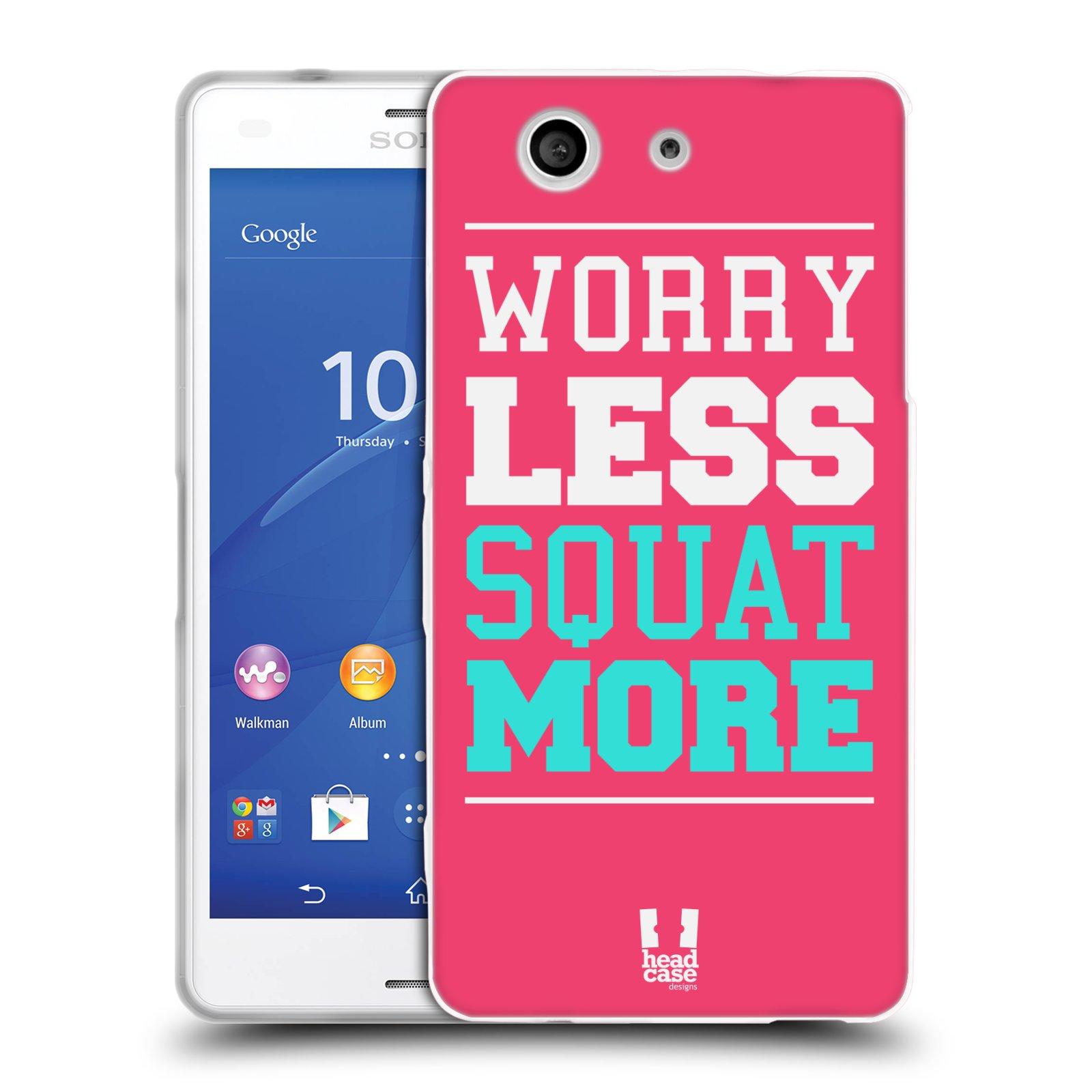 HEAD CASE silikonový obal na mobil Sony Xperia Z3 COMPACT Sportovní nápisy růžová barva DŘEPY