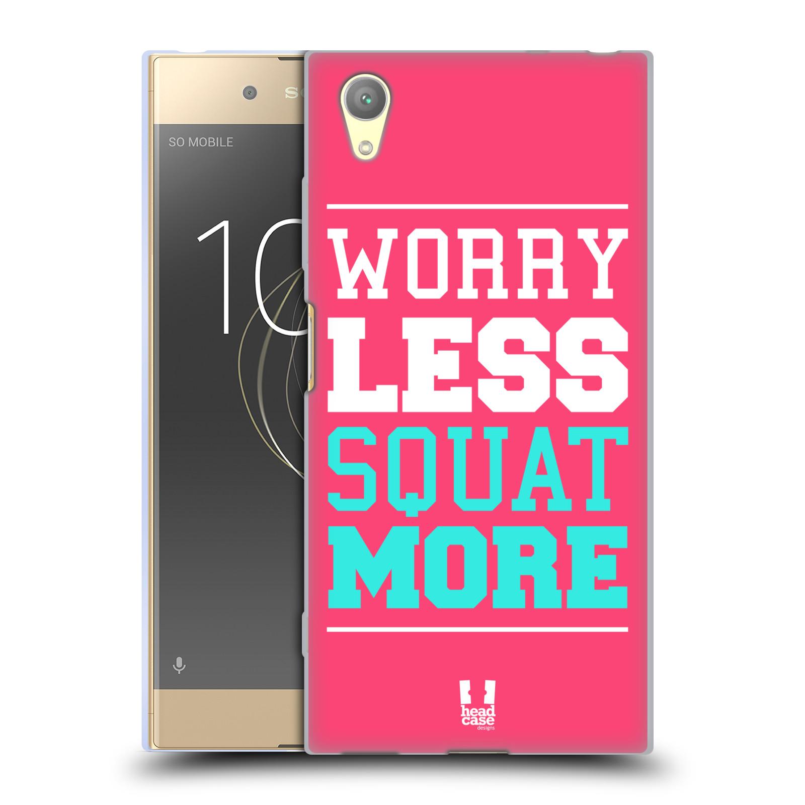 HEAD CASE silikonový obal na mobil Sony Xperia XA1 PLUS Sportovní nápisy růžová barva DŘEPY