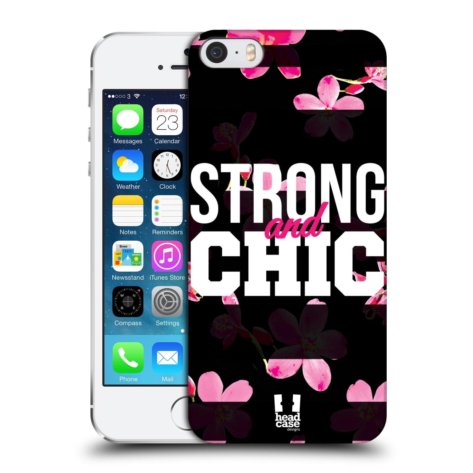 Plastové pouzdro pro mobil Apple Iphone 5 / 5S / SE Sportovní nápisy STRONG and CHIC