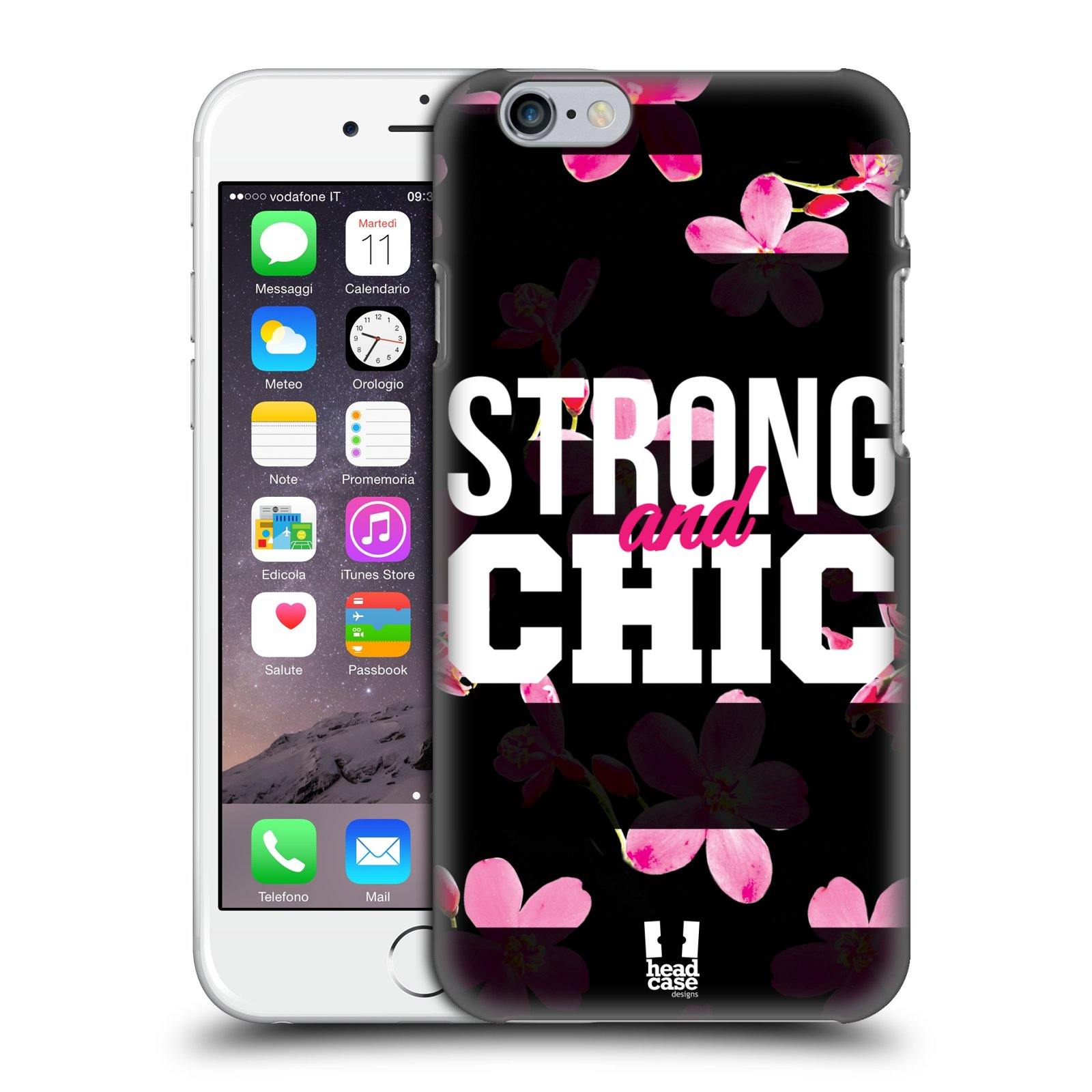 Plastové pouzdro pro mobil Apple Iphone 6/6S Sportovní nápisy STRONG and CHIC