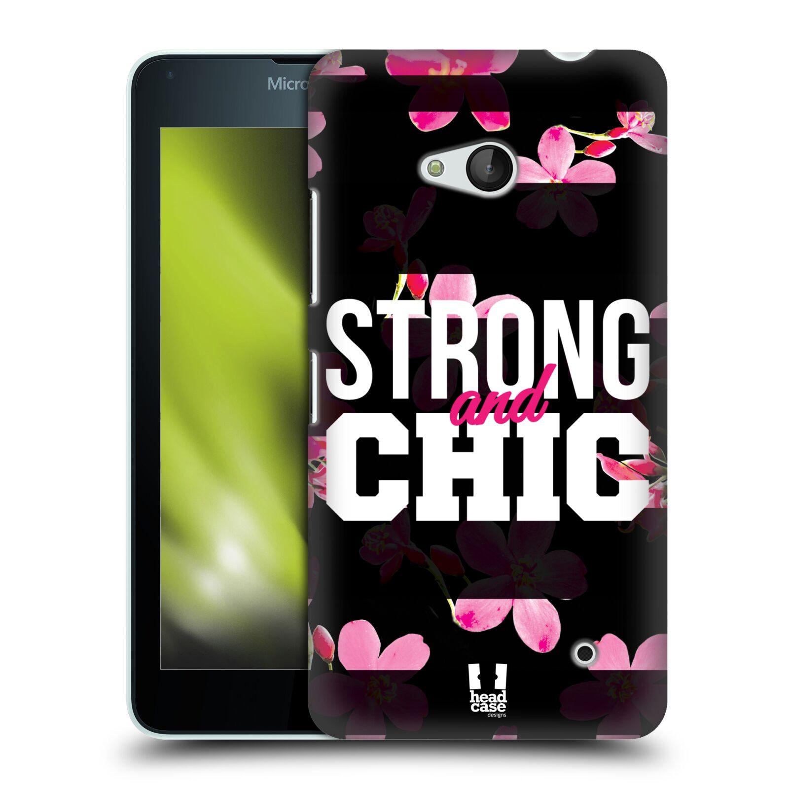 HEAD CASE plastový obal na mobil Nokia Lumia 640 Sportovní nápisy STRONG and CHIC