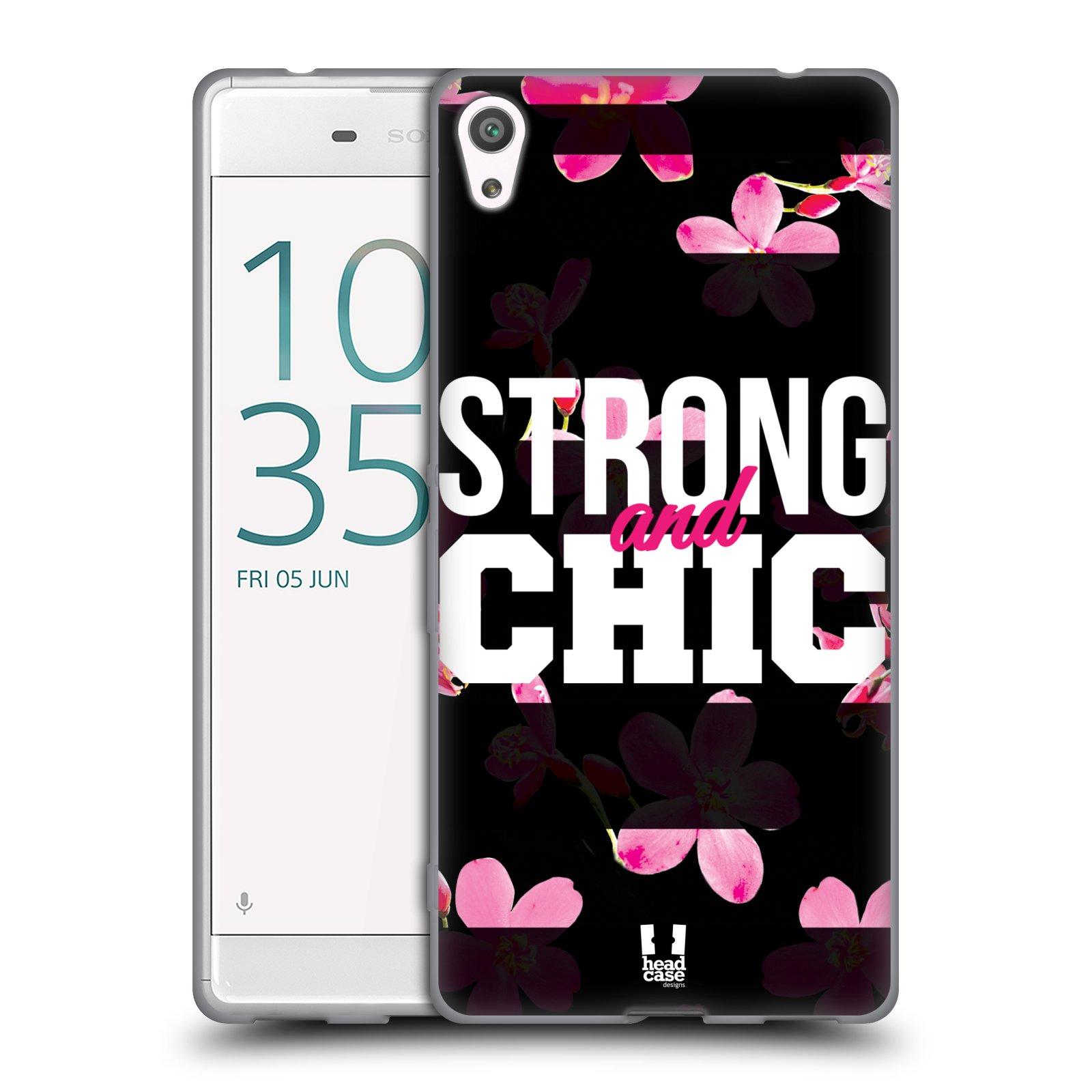 HEAD CASE silikonový obal na mobil Sony Xperia XA ULTRA Sportovní nápisy STRONG and CHIC