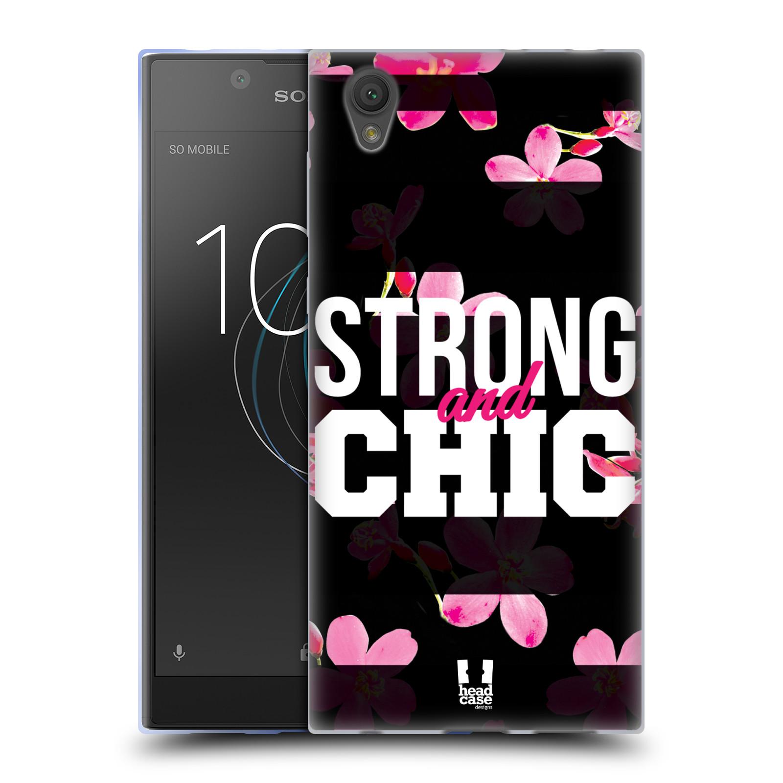 HEAD CASE silikonový obal na mobil Sony Xperia L1 Sportovní nápisy STRONG and CHIC
