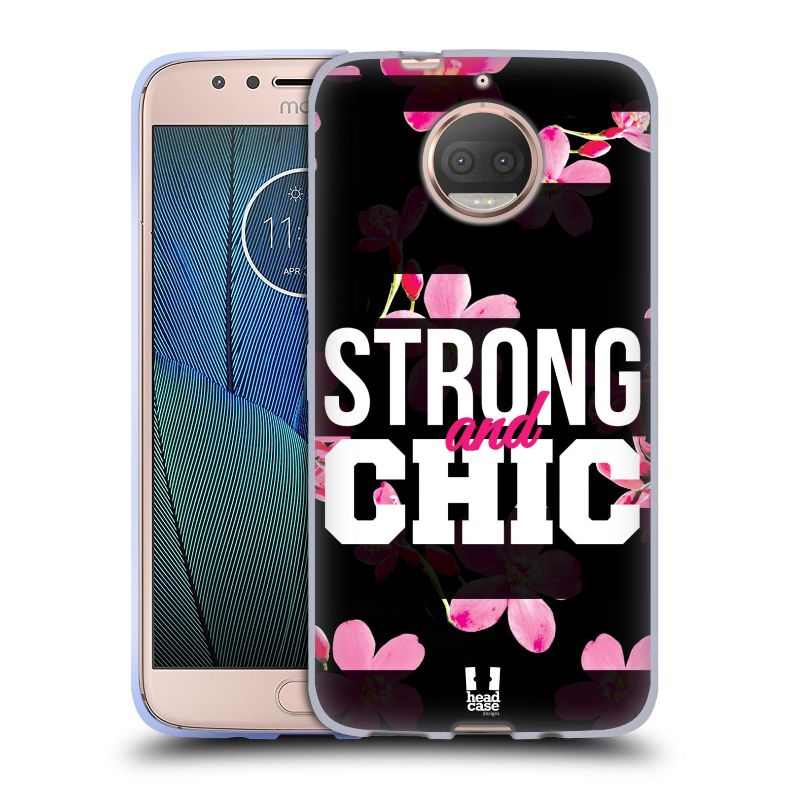 HEAD CASE silikonový obal na mobil Lenovo Moto G5s PLUS Sportovní nápisy STRONG and CHIC