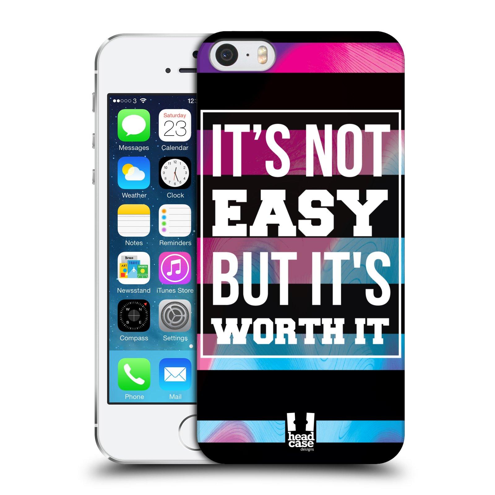 Plastové pouzdro pro mobil Apple Iphone 5 / 5S / SE Sportovní nápisy Motivační nadpis BOJ