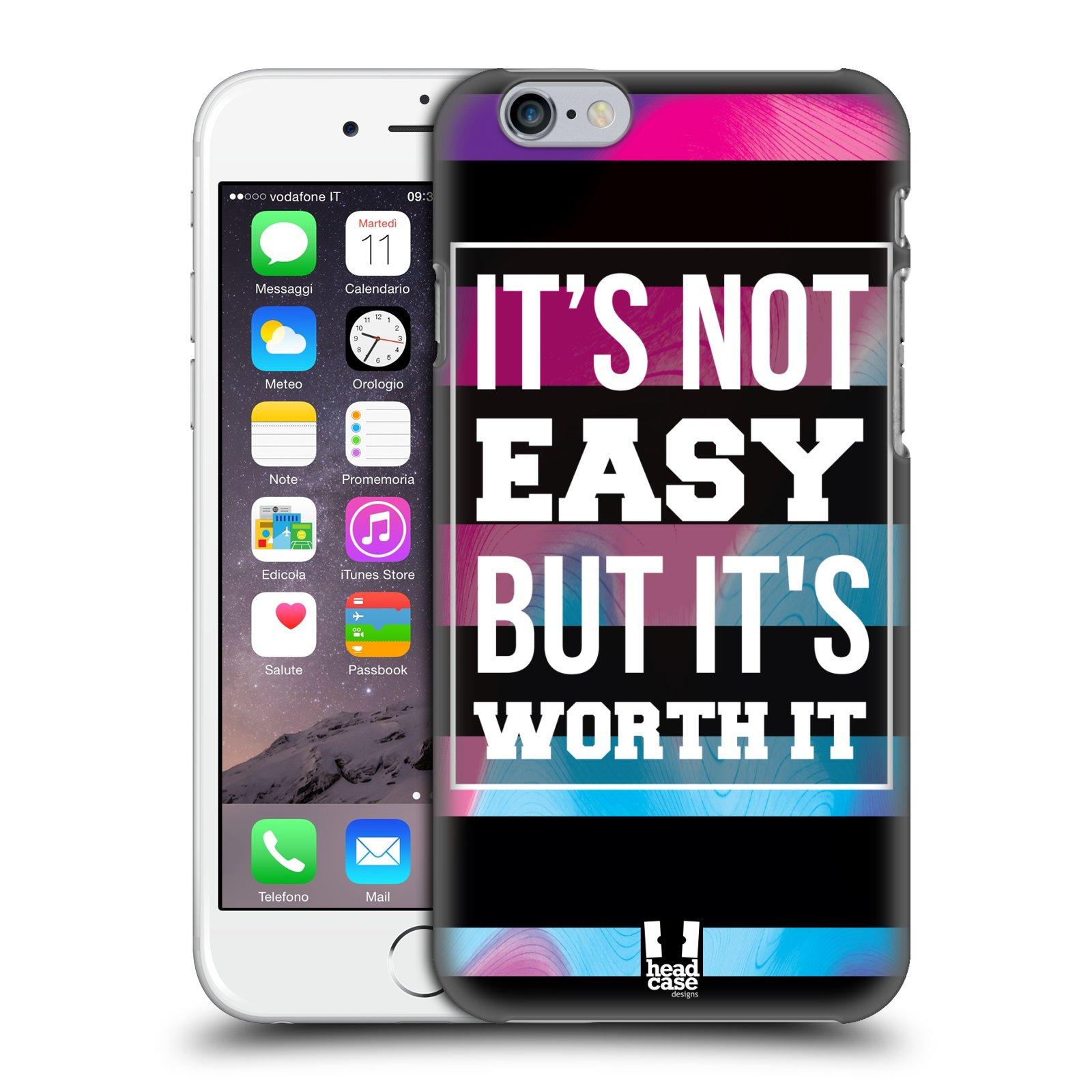 Plastové pouzdro pro mobil Apple Iphone 6/6S Sportovní nápisy Motivační nadpis BOJ