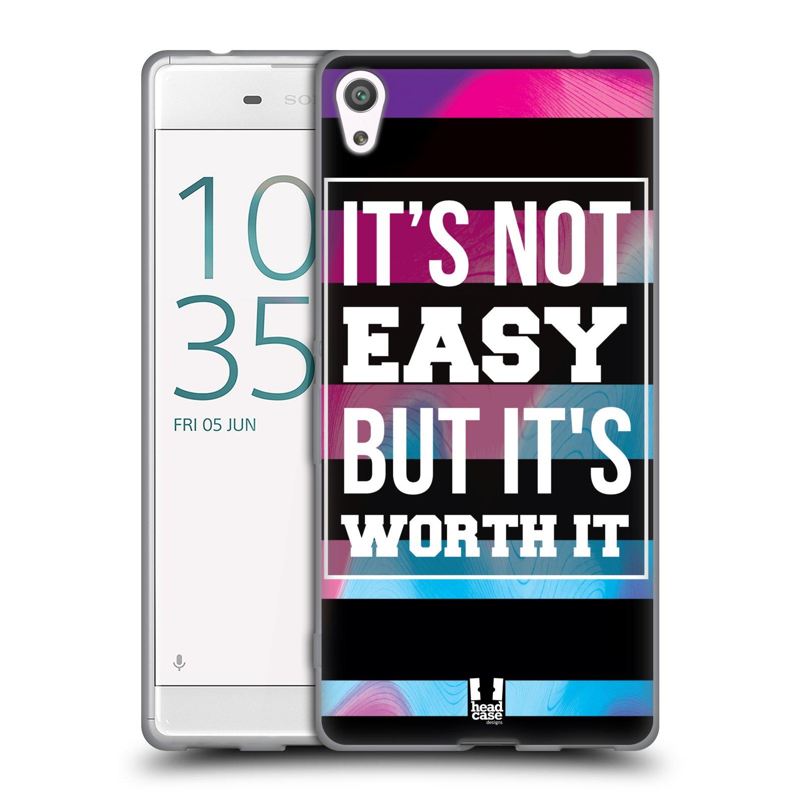 HEAD CASE silikonový obal na mobil Sony Xperia XA ULTRA Sportovní nápisy Motivační nadpis BOJ