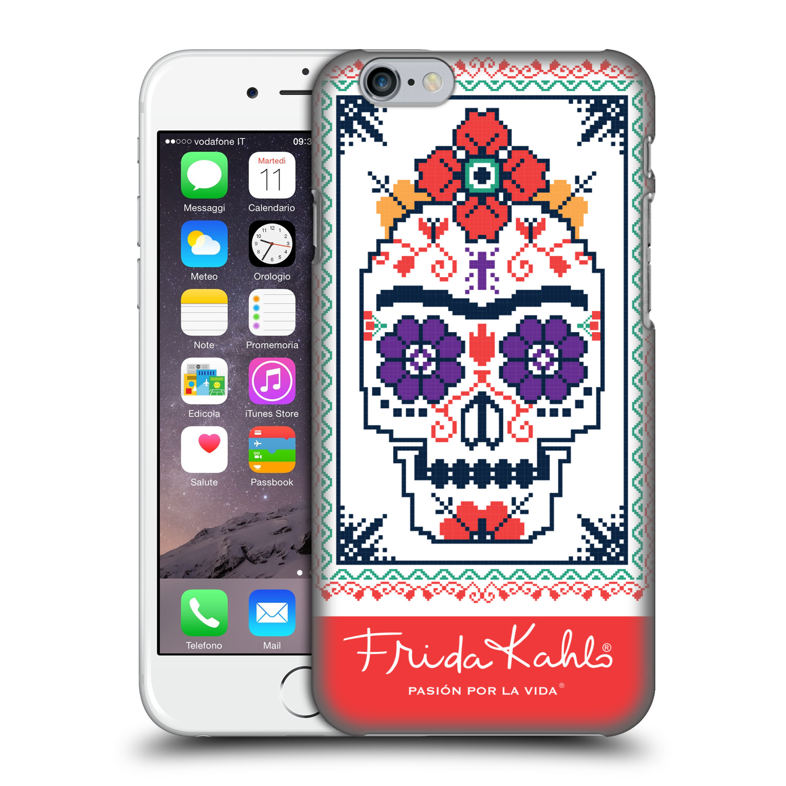 Frida Kahlo Coyoacan Patterns-Sugar Skull