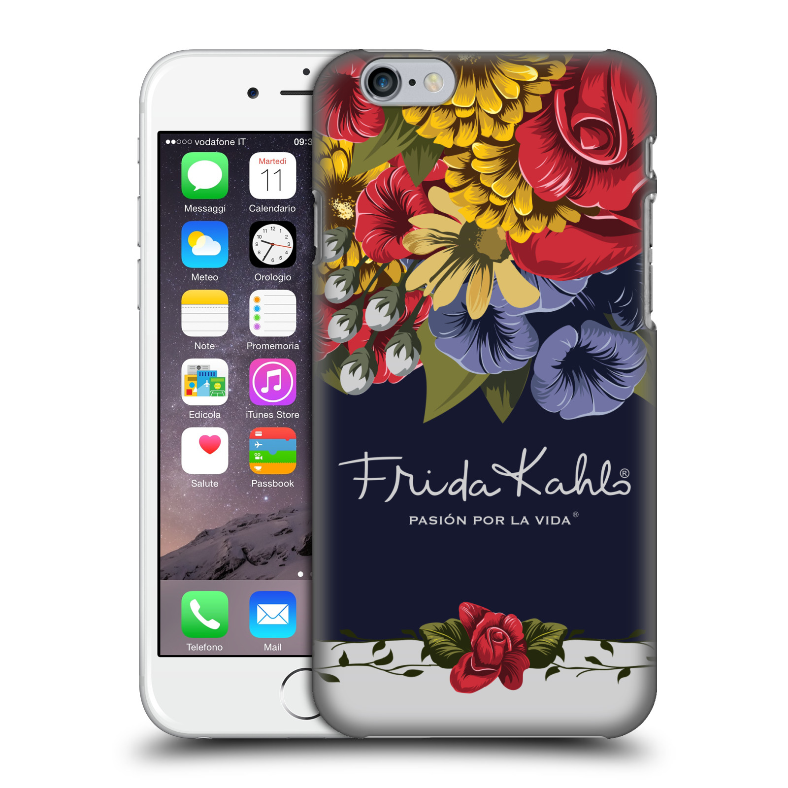 Frida Kahlo Red Florals-Blooms