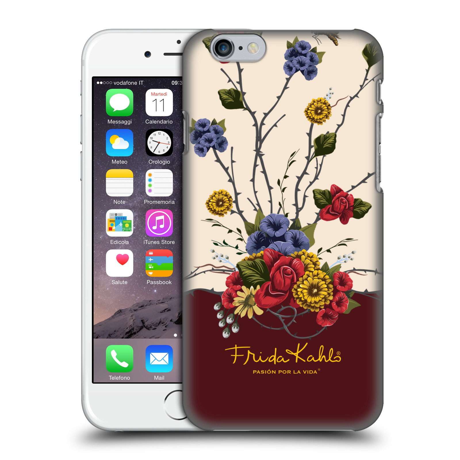 Frida Kahlo Red Florals-Shrub