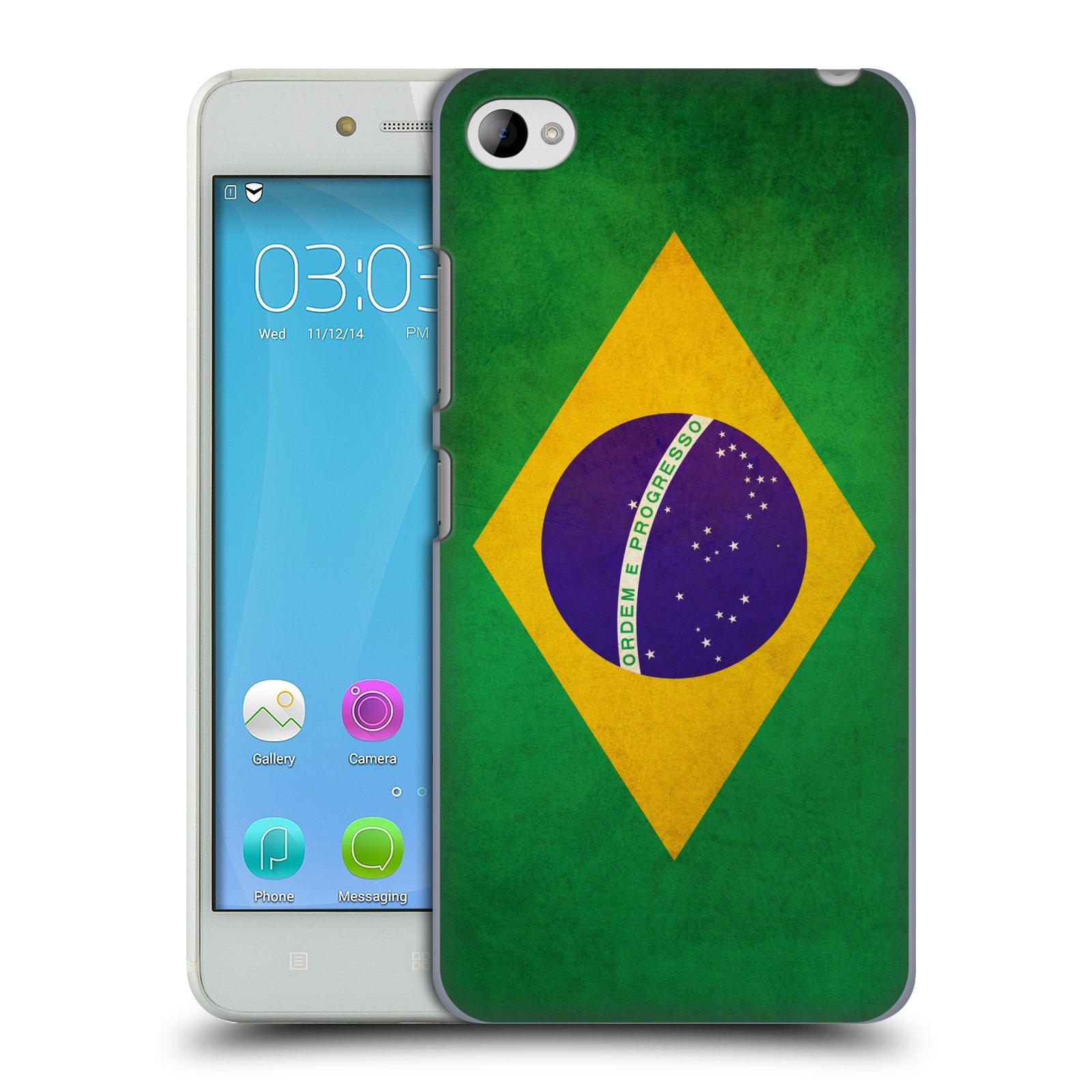 HEAD CASE pevný plastový obal na mobil LENOVO S90 vzor VINTAGE VLAJKY BRAZÍLIE