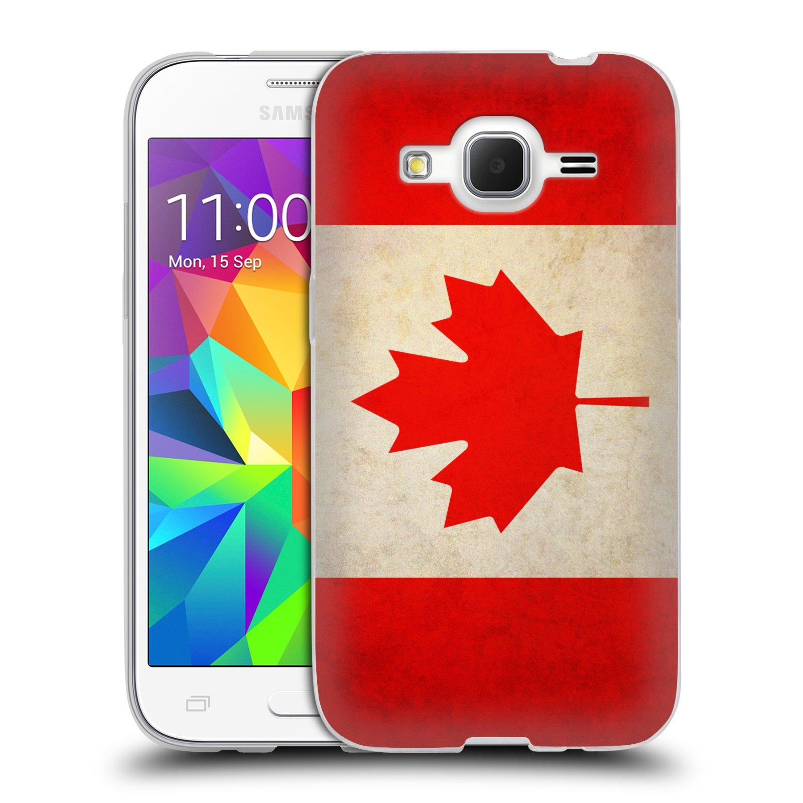 HEAD CASE silikonový obal na mobil Samsung Galaxy Core Prime (G360) vzor VINTAGE VLAJKY KANADA