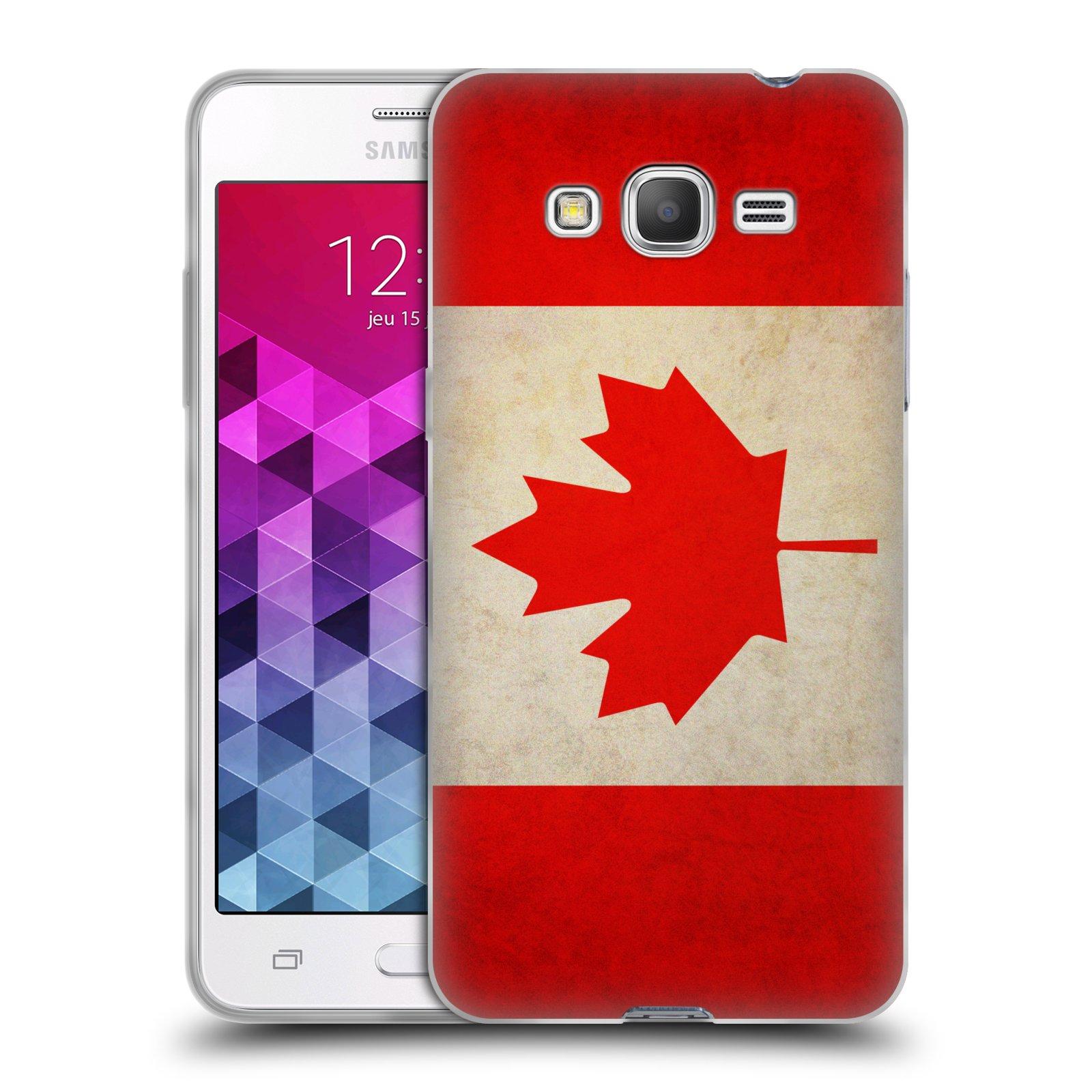 HEAD CASE silikonový obal na mobil Samsung Galaxy GRAND PRIME vzor VINTAGE VLAJKY KANADA