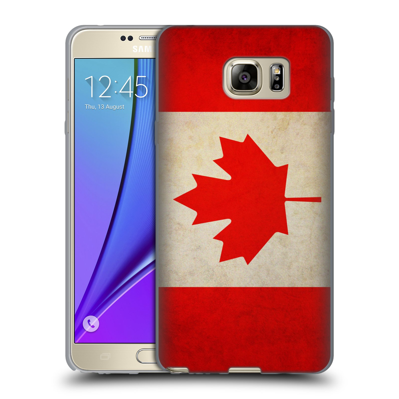 HEAD CASE silikonový obal na mobil Samsung Galaxy Note 5 (N920) vzor VINTAGE VLAJKY KANADA