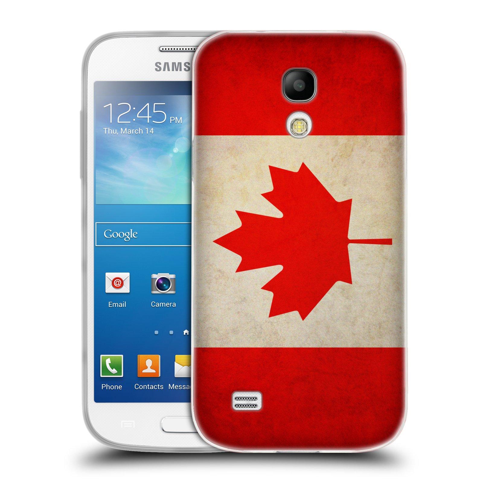 HEAD CASE silikonový obal na mobil Samsung Galaxy S4 MINI vzor VINTAGE VLAJKY KANADA