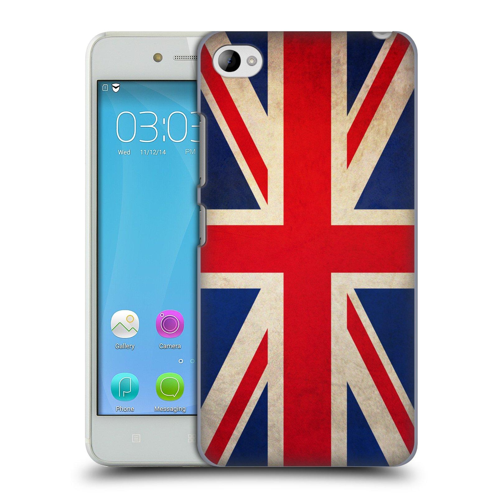 HEAD CASE pevný plastový obal na mobil LENOVO S90 vzor VINTAGE VLAJKY VELKÁ BRITÁNIE