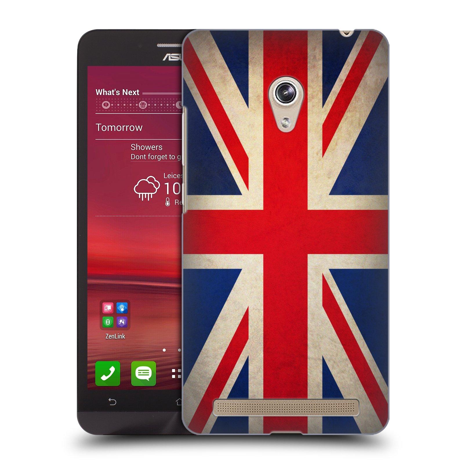 HEAD CASE plastový obal na mobil Asus Zenfone 6 vzor VINTAGE VLAJKY VELKÁ BRITÁNIE