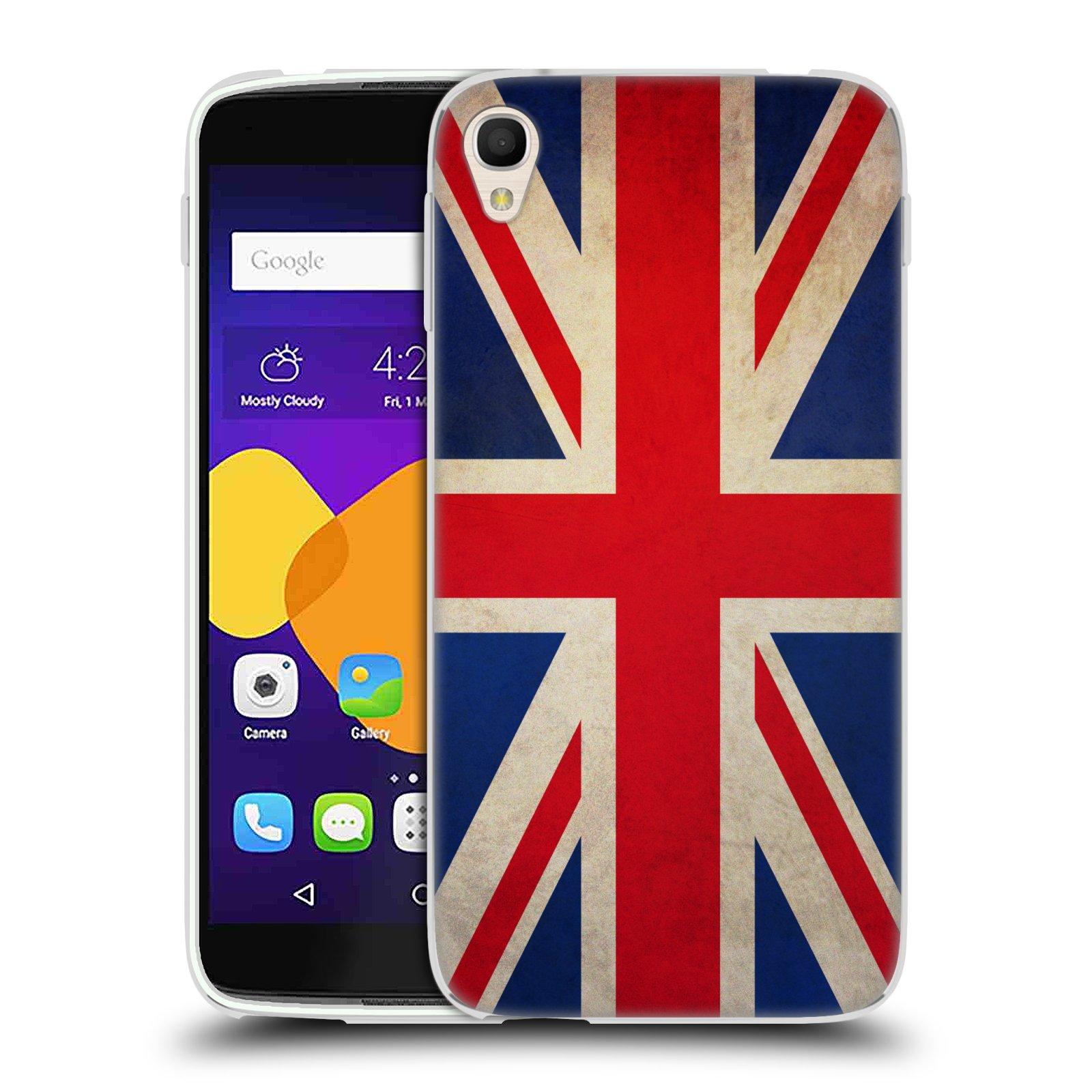 HEAD CASE silikonový obal na mobil Alcatel Idol 3 OT-6045Y (5.5) vzor VINTAGE VLAJKY VELKÁ BRITÁNIE