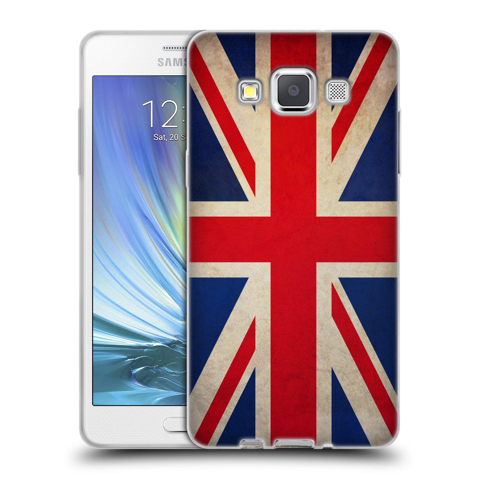 HEAD CASE silikonový obal na mobil Samsung Galaxy A5 vzor VINTAGE VLAJKY VELKÁ BRITÁNIE