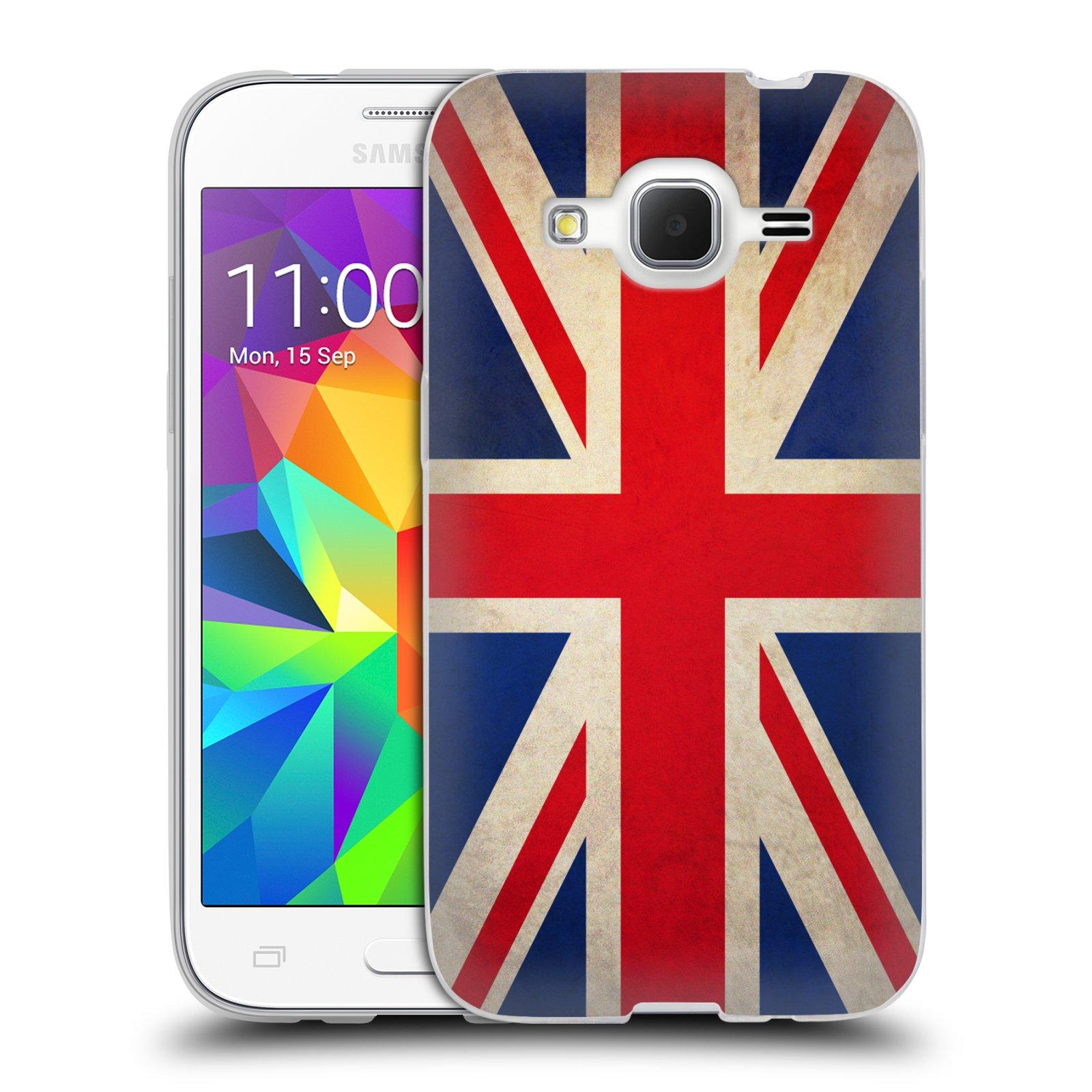 HEAD CASE silikonový obal na mobil Samsung Galaxy Core Prime (G360) vzor VINTAGE VLAJKY VELKÁ BRITÁNIE