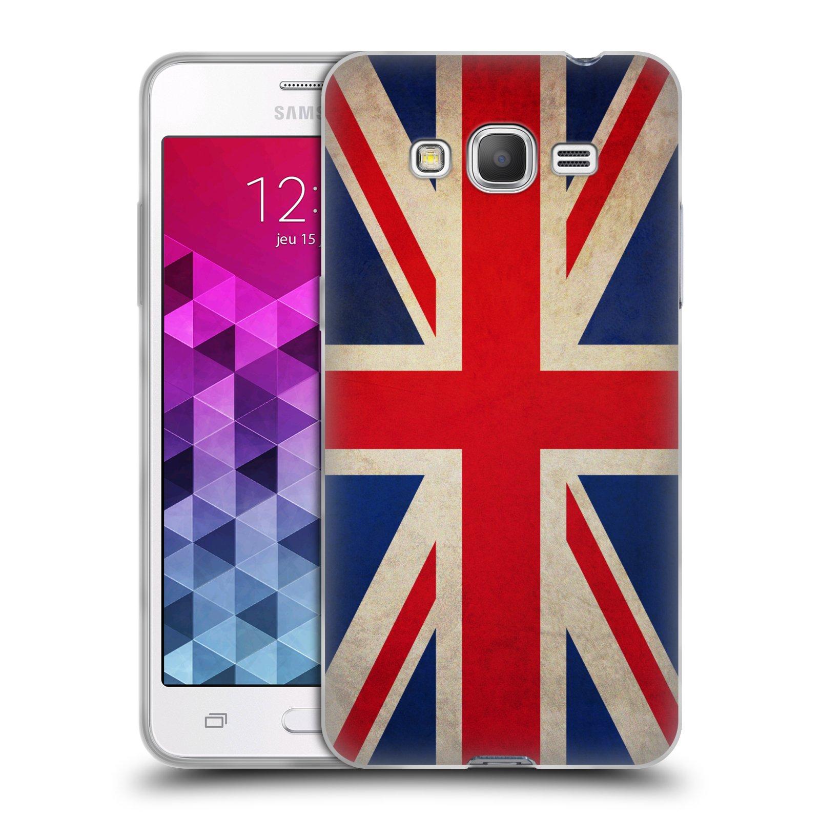 HEAD CASE silikonový obal na mobil Samsung Galaxy GRAND PRIME vzor VINTAGE VLAJKY VELKÁ BRITÁNIE