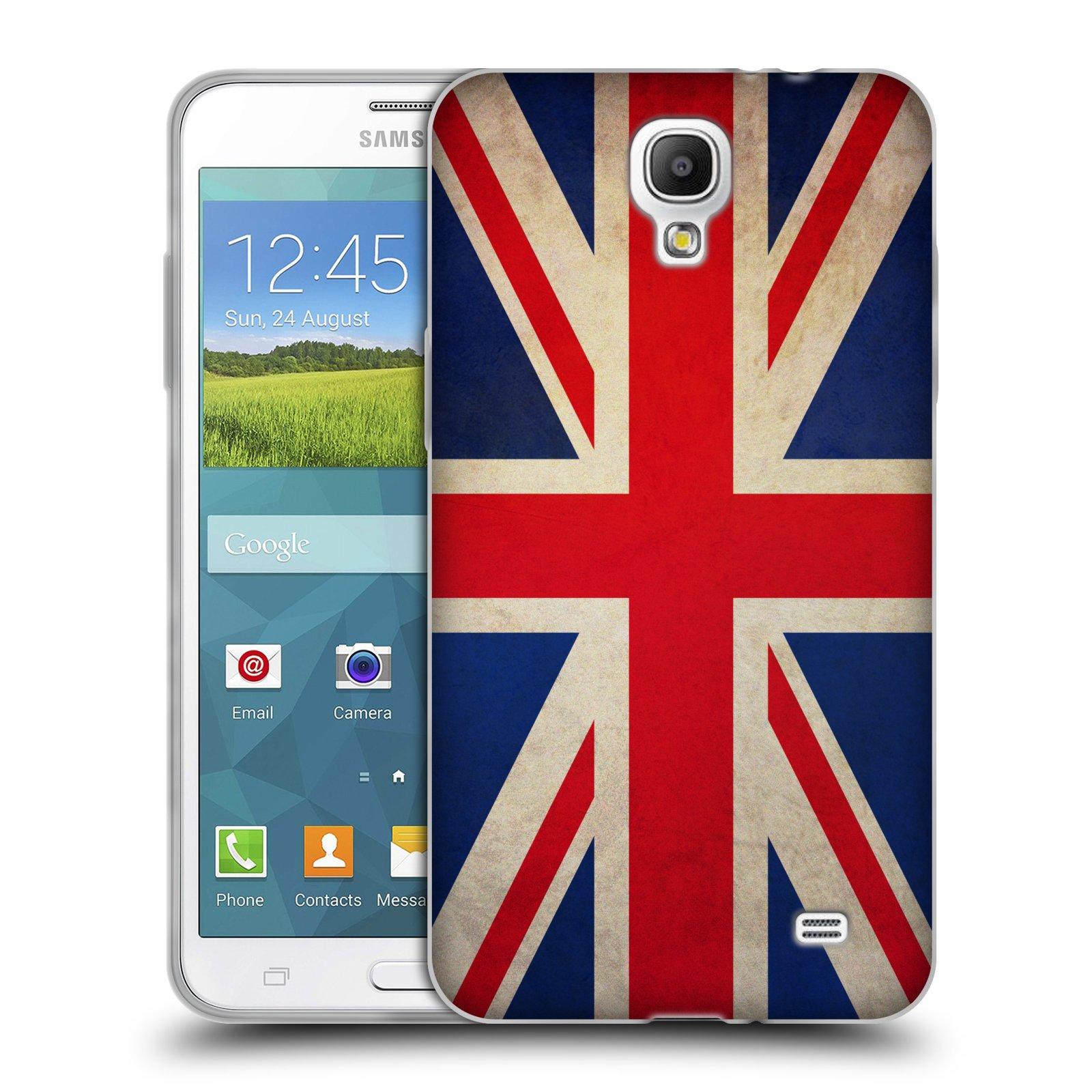 HEAD CASE silikonový obal na mobil Samsung Galaxy Mega 2 vzor VINTAGE VLAJKY VELKÁ BRITÁNIE