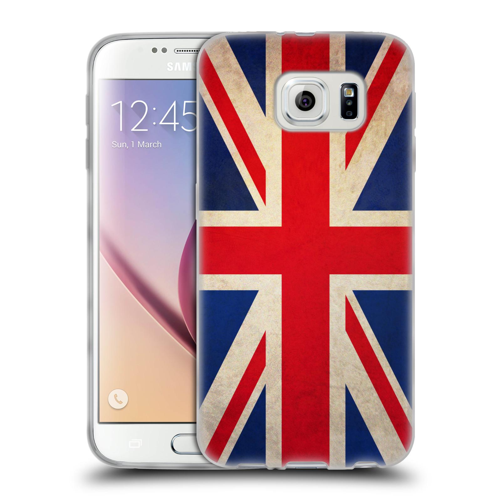 HEAD CASE silikonový obal na mobil Samsung Galaxy S6 vzor VINTAGE VLAJKY VELKÁ BRITÁNIE