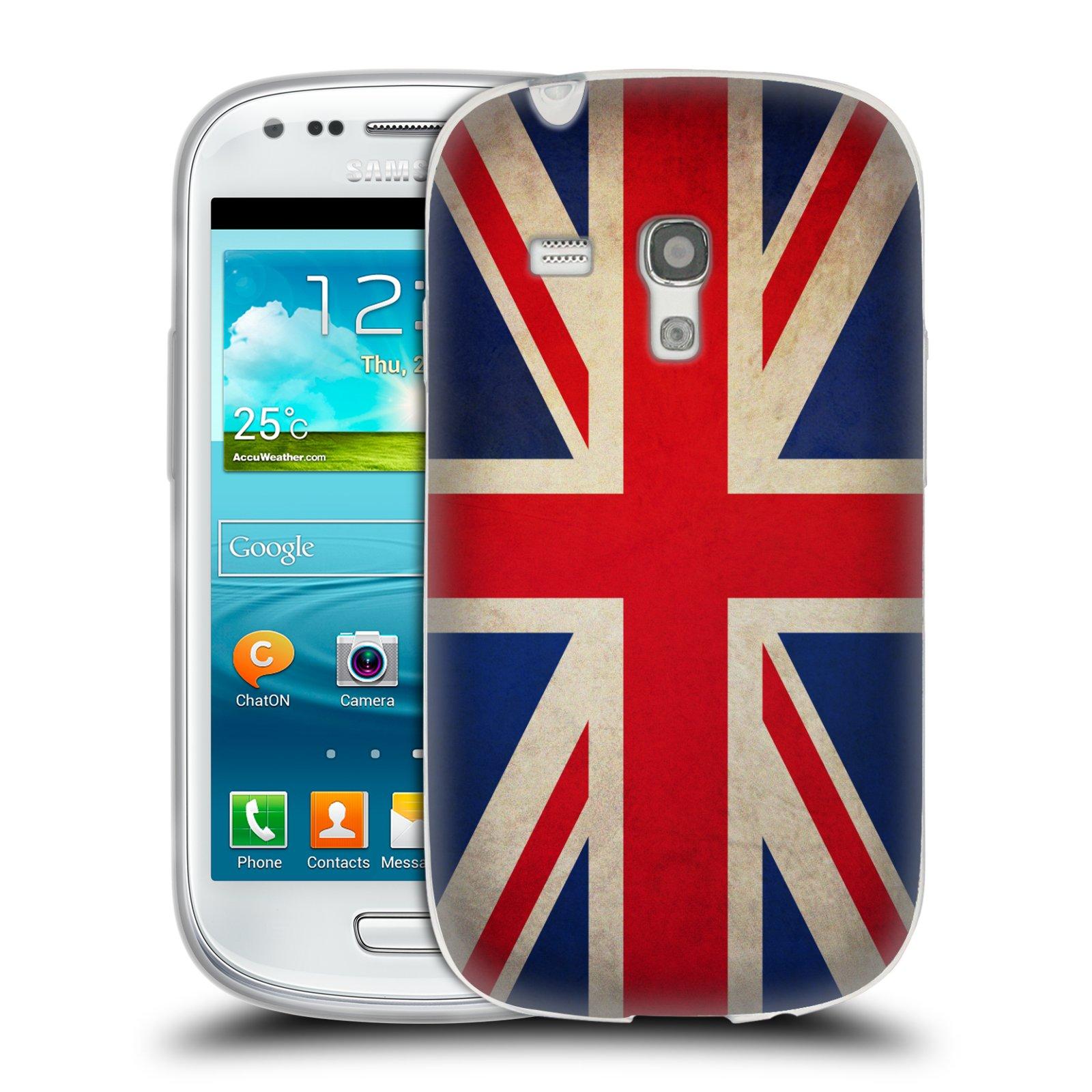 HEAD CASE silikonový obal na mobil Samsung Galaxy S3 MINI i8190 vzor VINTAGE VLAJKY VELKÁ BRITÁNIE