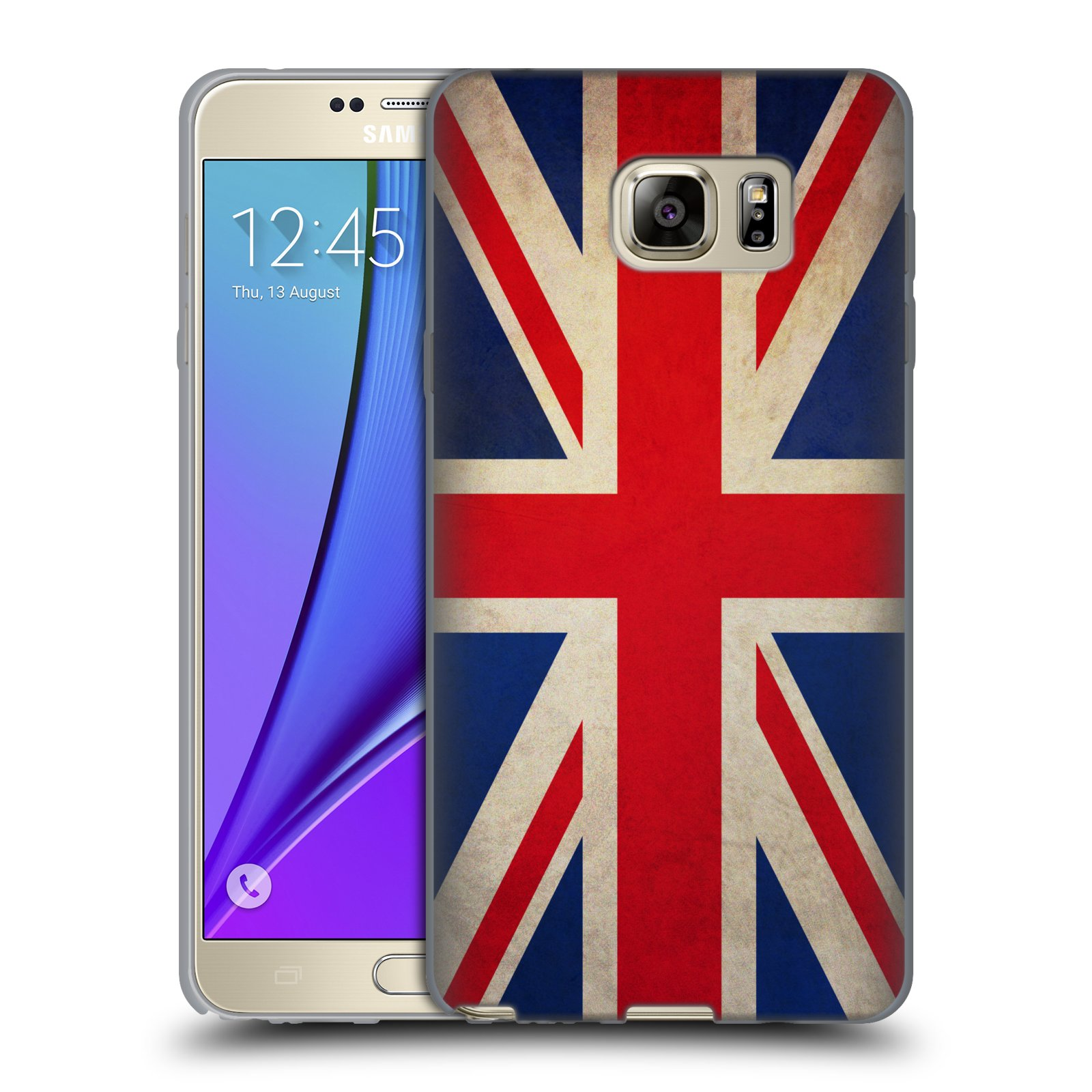 HEAD CASE silikonový obal na mobil Samsung Galaxy Note 5 (N920) vzor VINTAGE VLAJKY VELKÁ BRITÁNIE