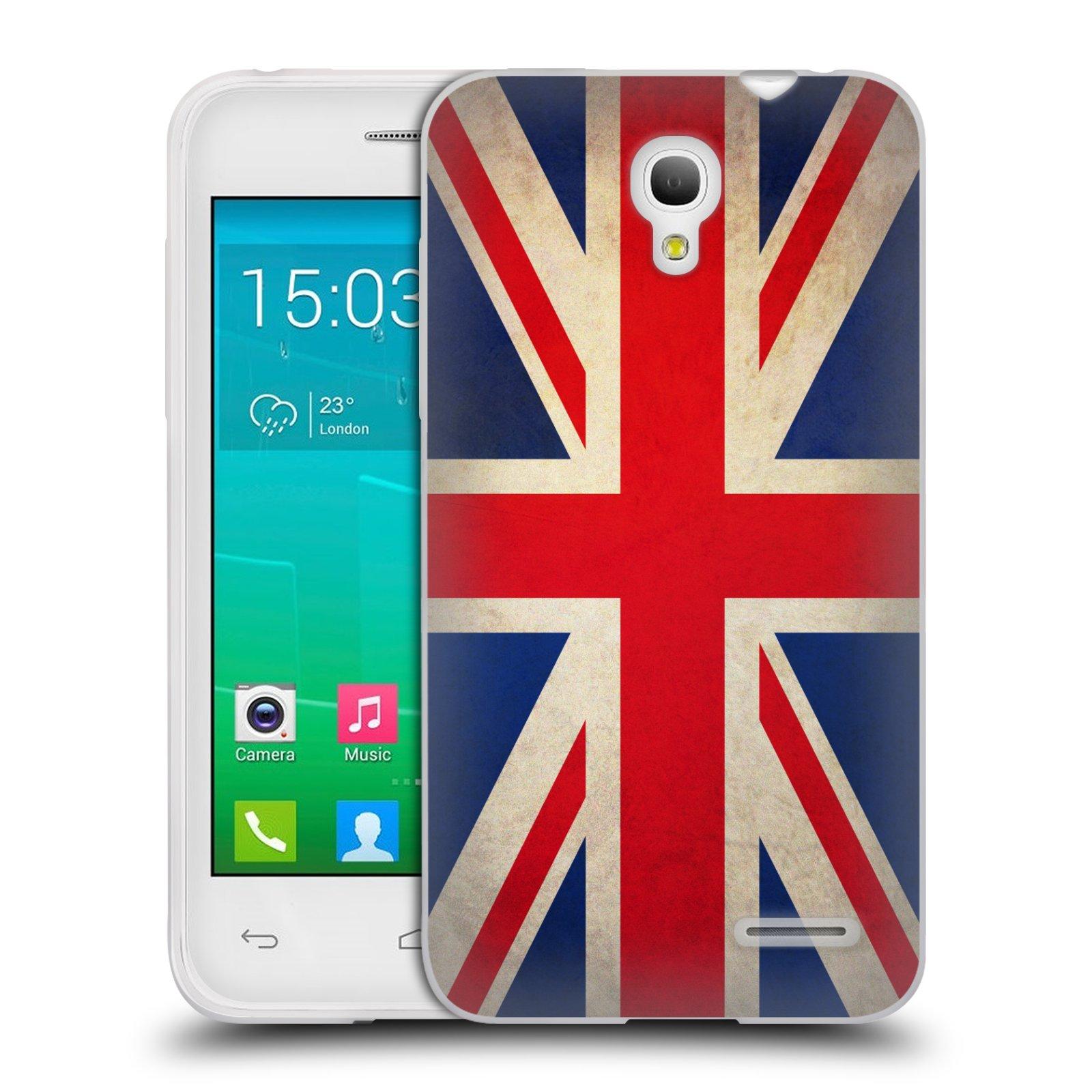 HEAD CASE silikonový obal na mobil Alcatel POP S3 OT-5050Y vzor VINTAGE VLAJKY VELKÁ BRITÁNIE