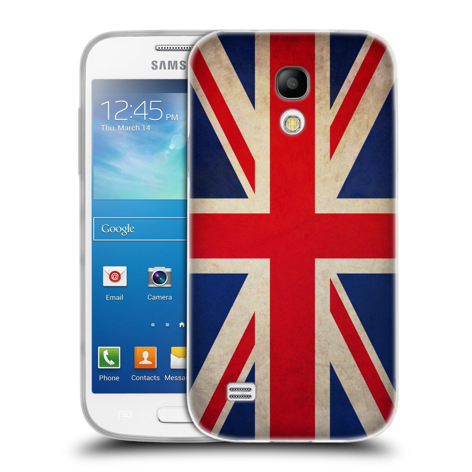 HEAD CASE silikonový obal na mobil Samsung Galaxy S4 MINI vzor VINTAGE VLAJKY VELKÁ BRITÁNIE