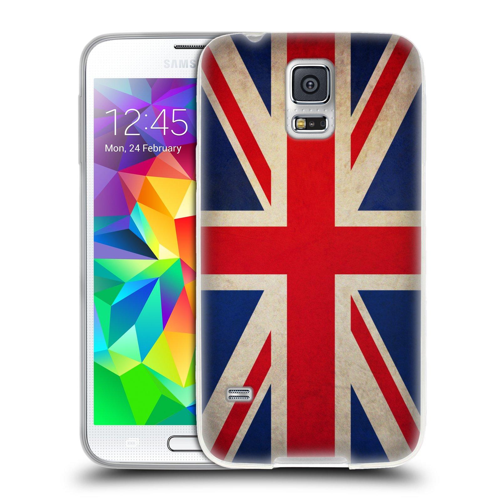 HEAD CASE silikonový obal na mobil Samsung Galaxy S5/S5 NEO vzor VINTAGE VLAJKY VELKÁ BRITÁNIE