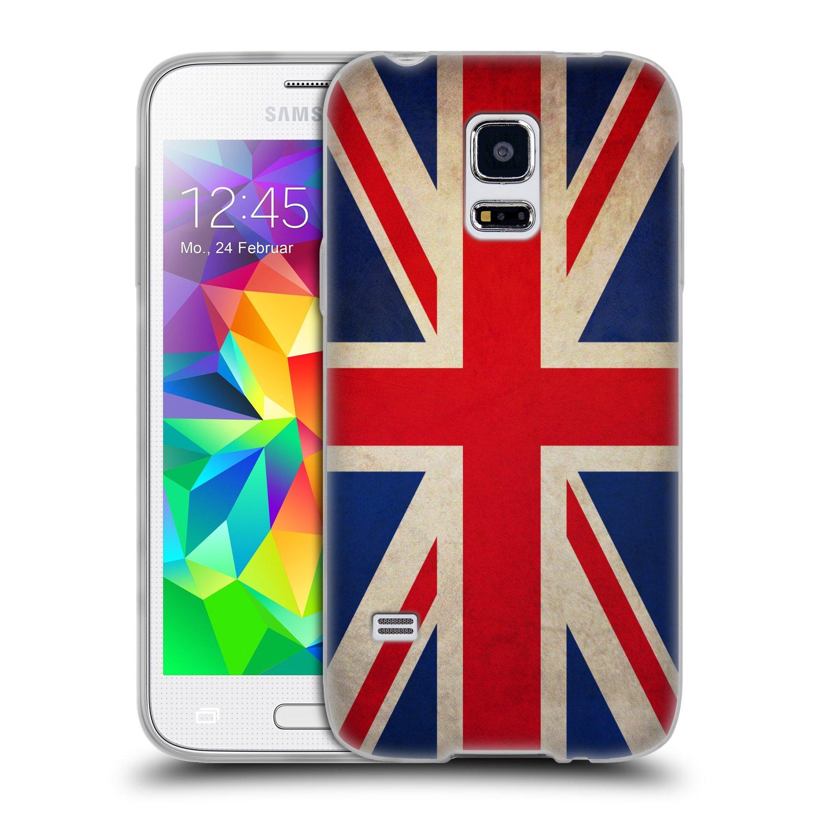 HEAD CASE silikonový obal na mobil Samsung Galaxy S5 MINI vzor VINTAGE VLAJKY VELKÁ BRITÁNIE